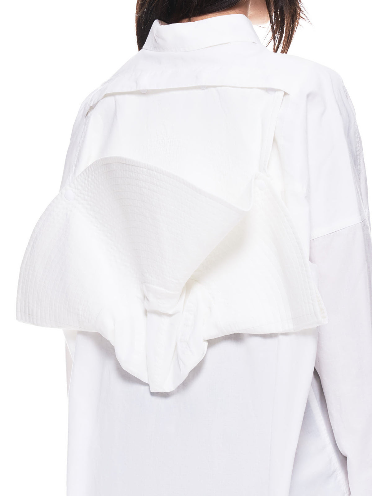 Flowing Hood Shirt (BMGA001FAB001-0200-WHITE)