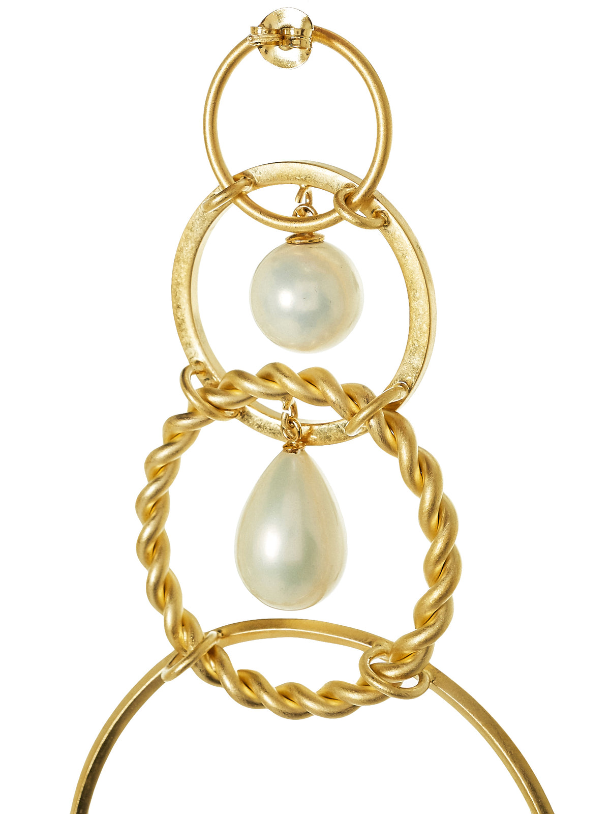 Tiered Loop Earrings (BOLOOP-S15-FBG-GOLD)