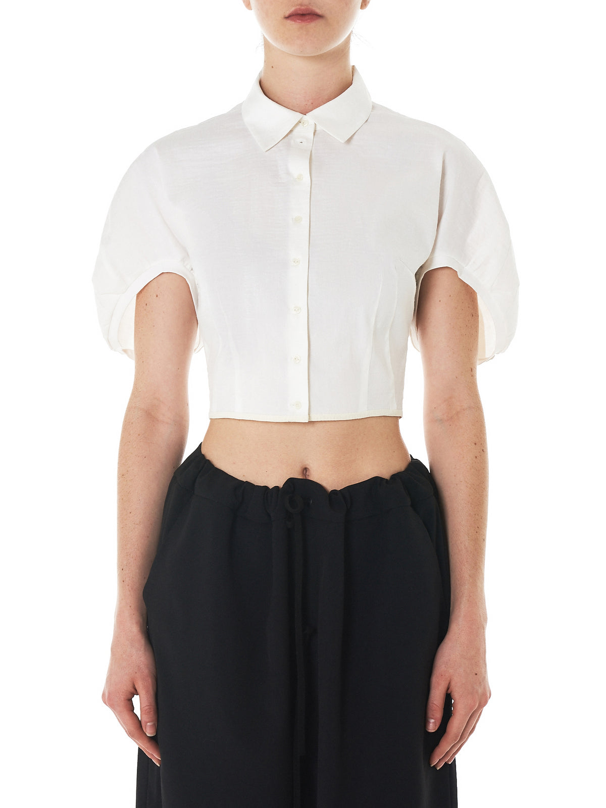 'Bria' Cropped Blouse (BRIA-OFF-WHITE)