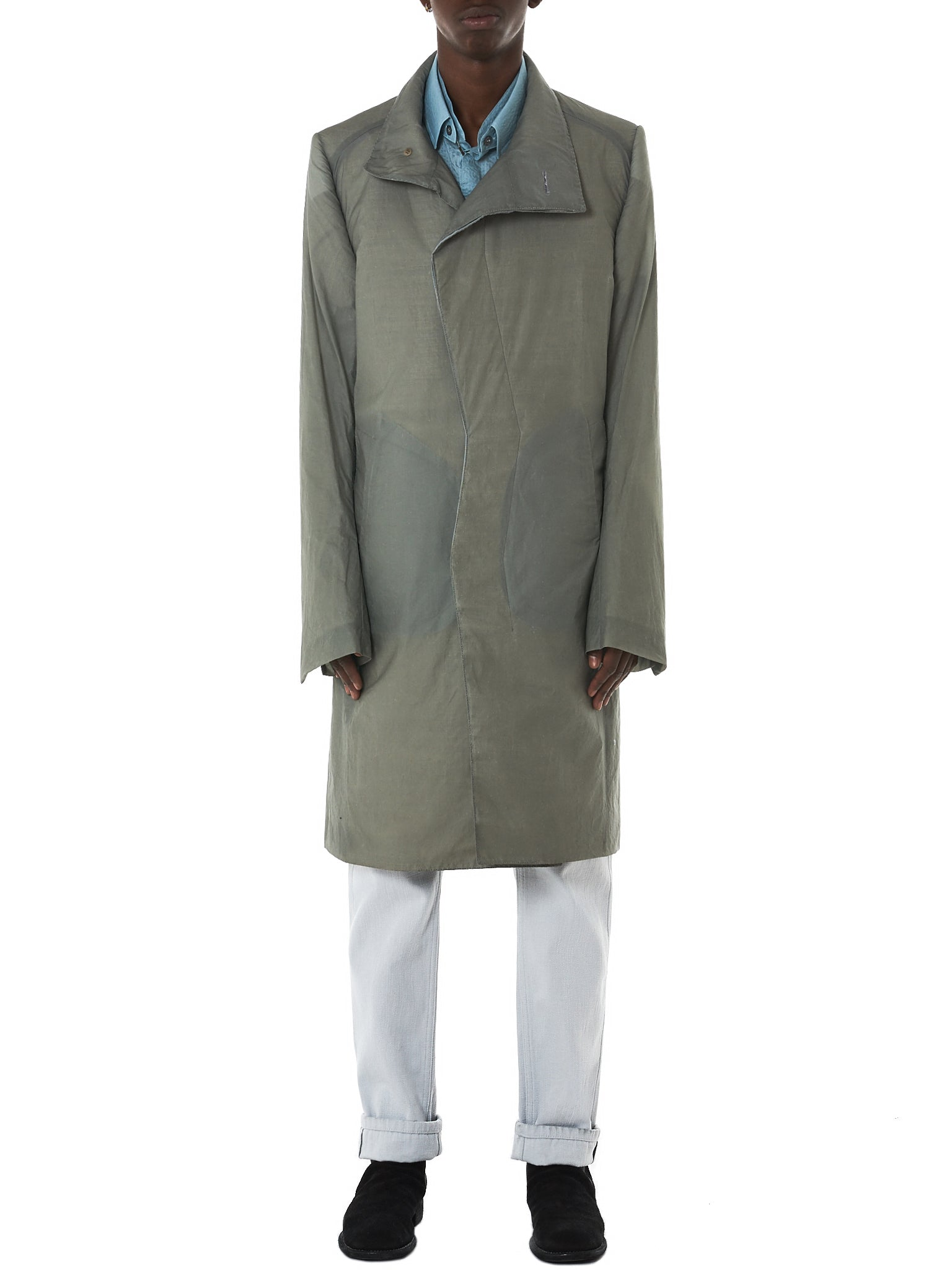 Deepti Long Coat - Hlorenzo Front