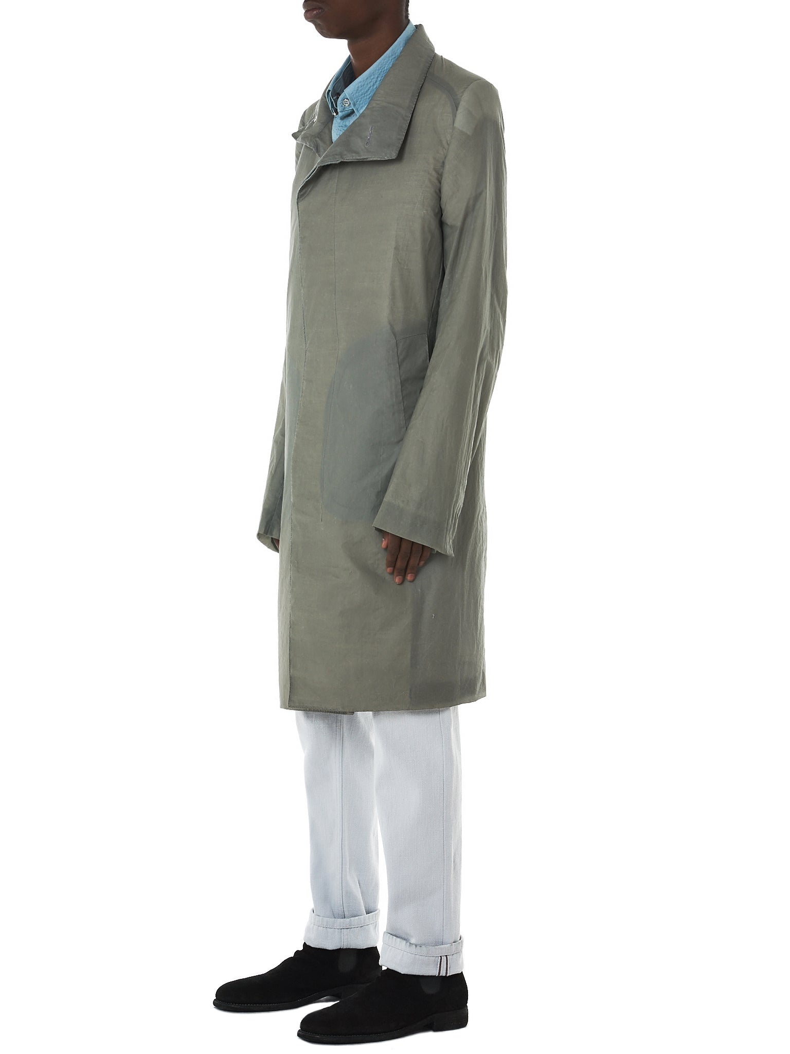 Deepti Long Coat - Hlorenzo Side