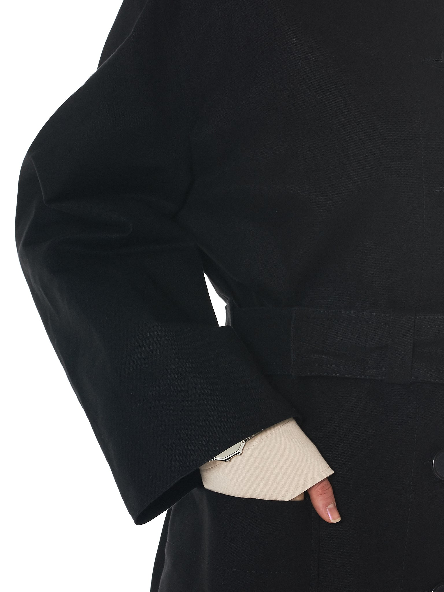 Kwaidan Oversized Coat - Hlorenzo Detail 3