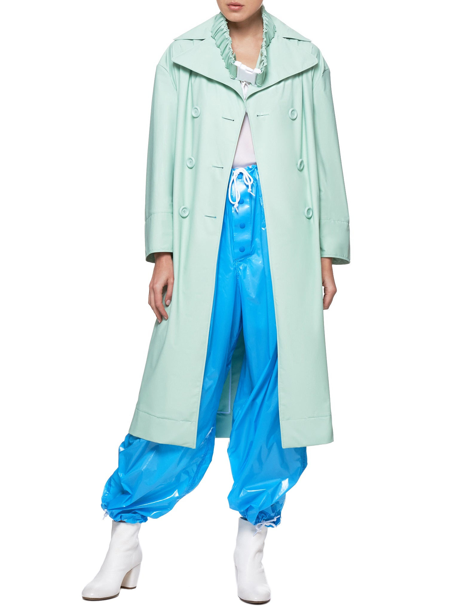 Matte Coating Belted Lab Coat (C017-MC-FOAM-GREEN)
