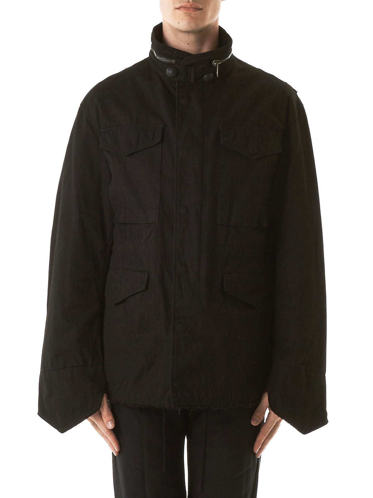 Garment-Dyed Jacket (CD17S-0110-BLACK) - H. Lorenzo