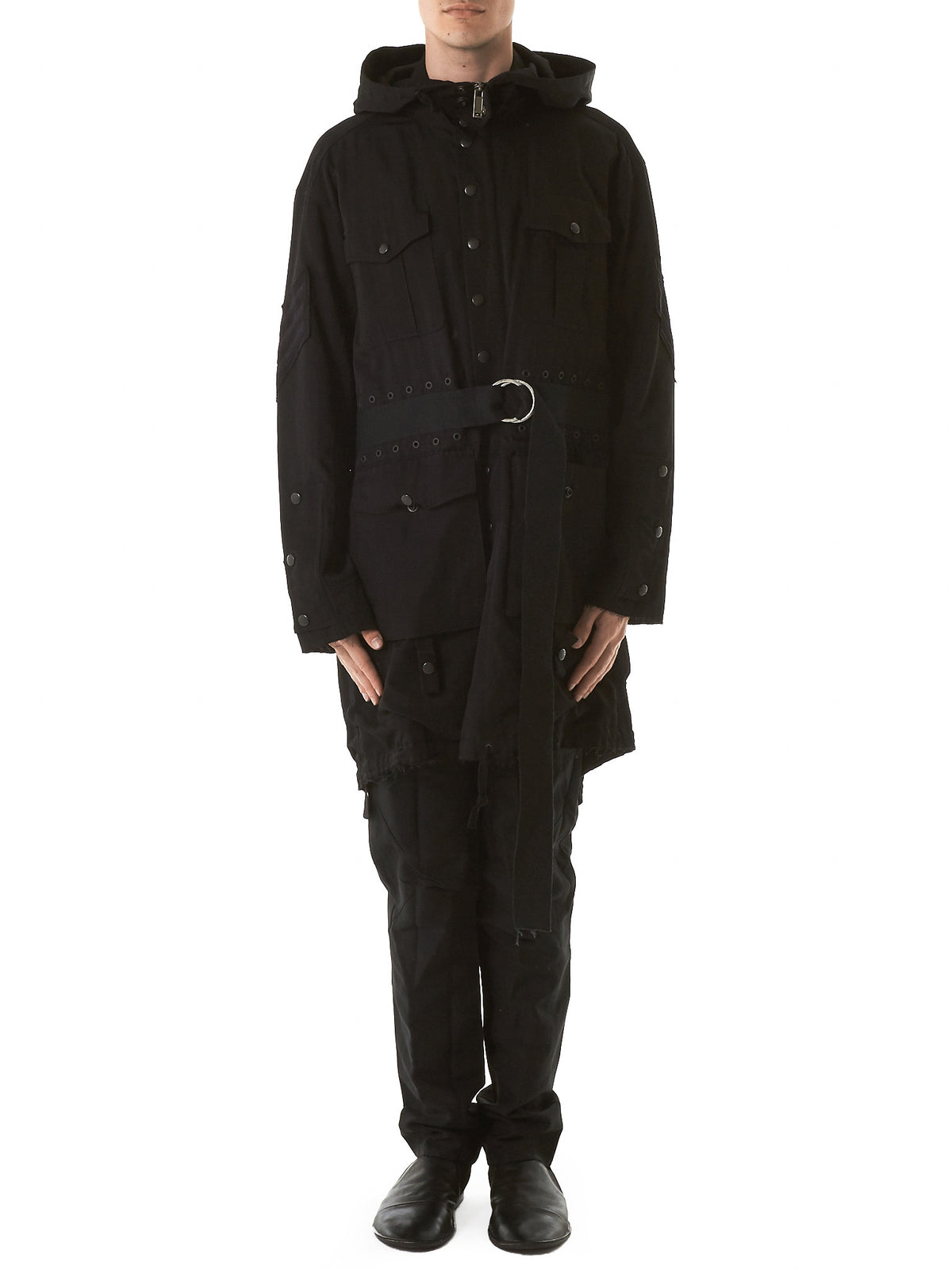 Raw Military Coat (CD17S-0301-BLACK) - H. Lorenzo