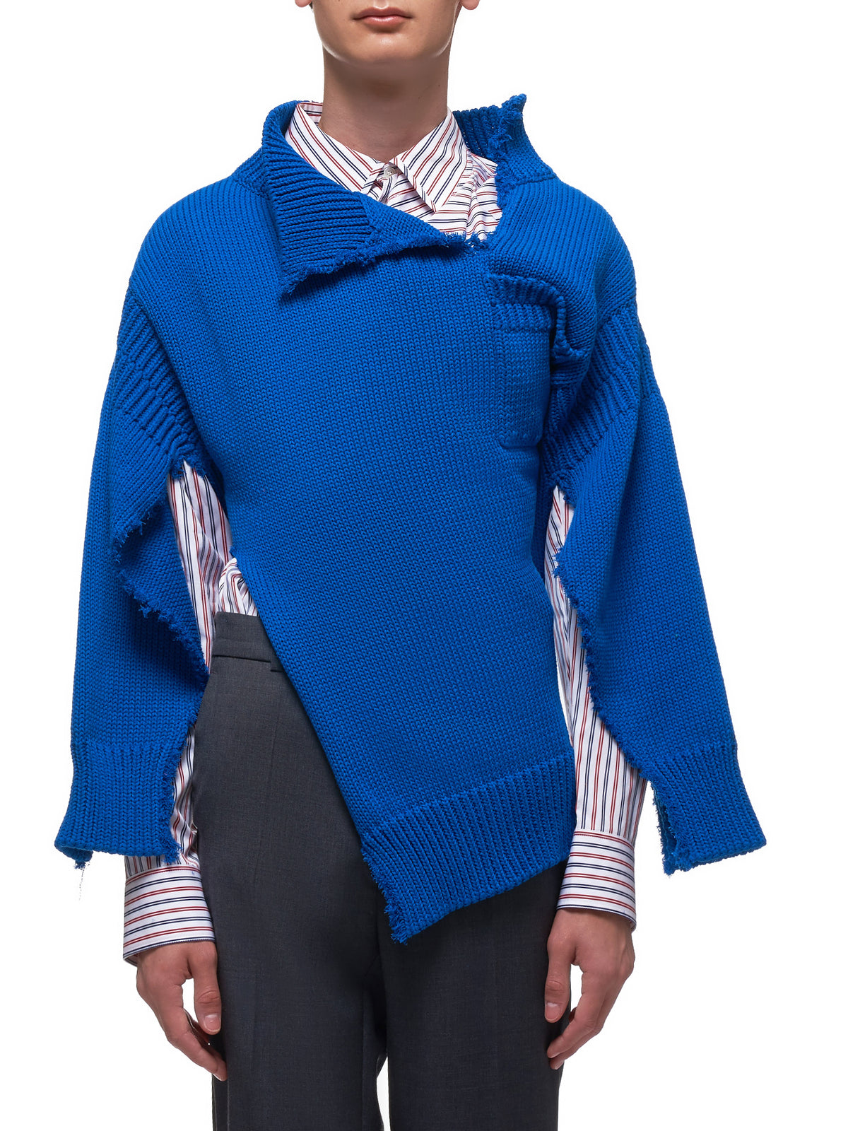 Deconstructed Knitted Fisherman Sweater (CVMD0043A0-00B57-BLUE)