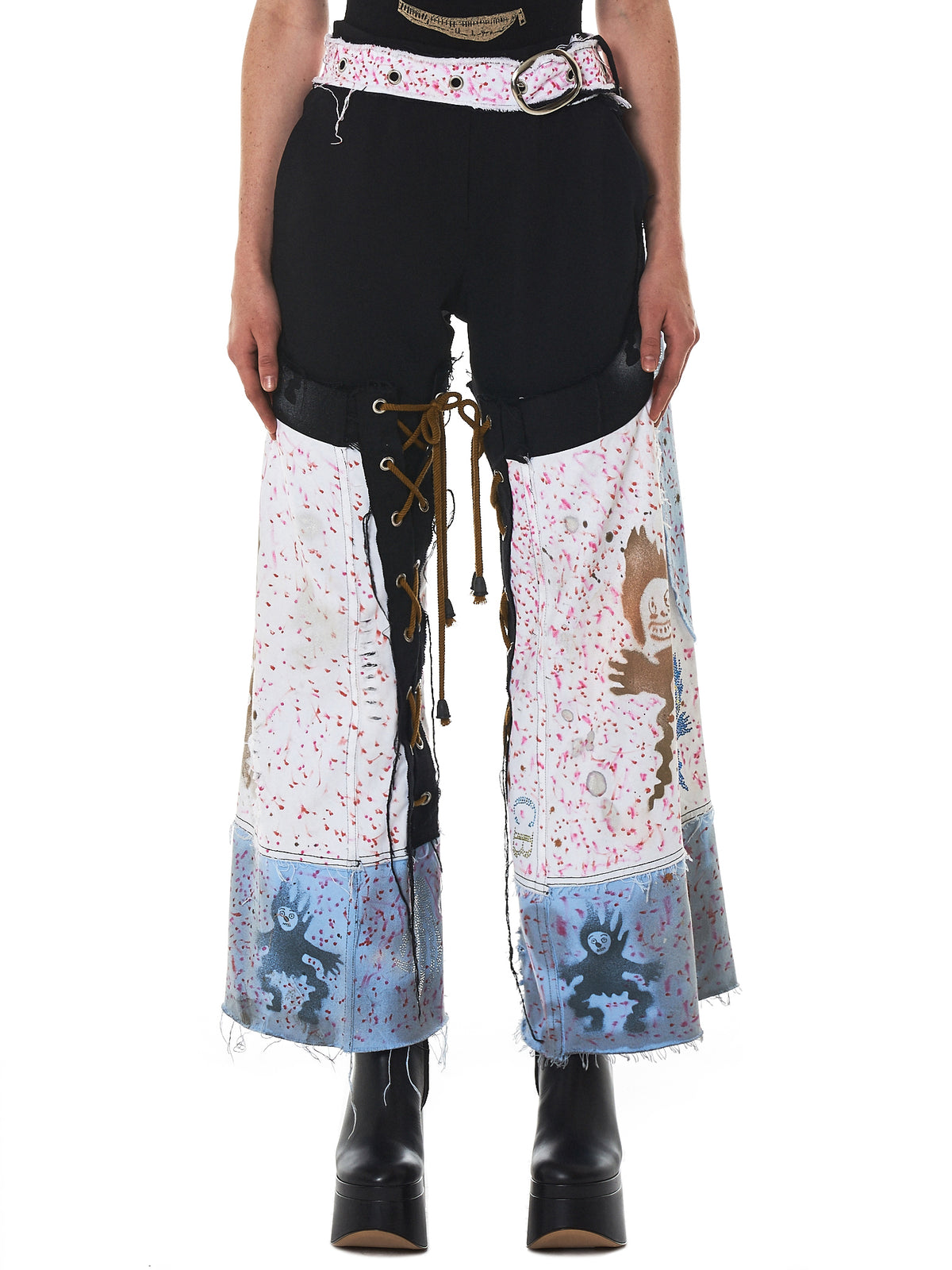 Claire Barrow Hand-Painted Denim - Hlorenzo Front