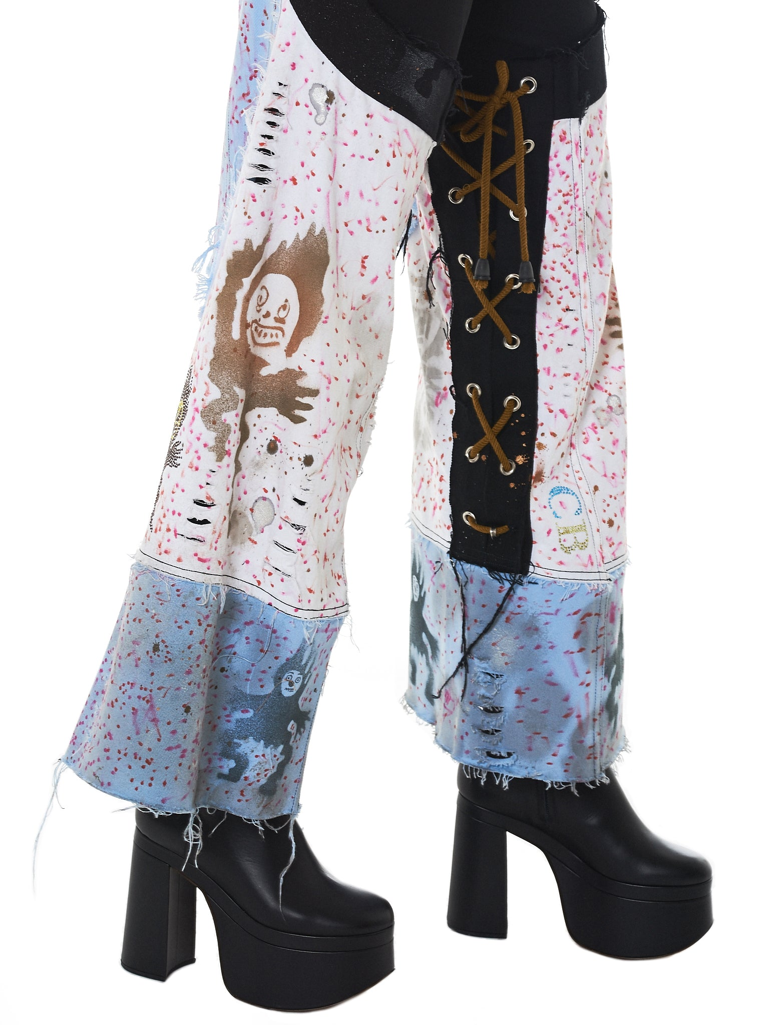 Claire Barrow Hand-Painted Denim - Hlorenzo Detail 2