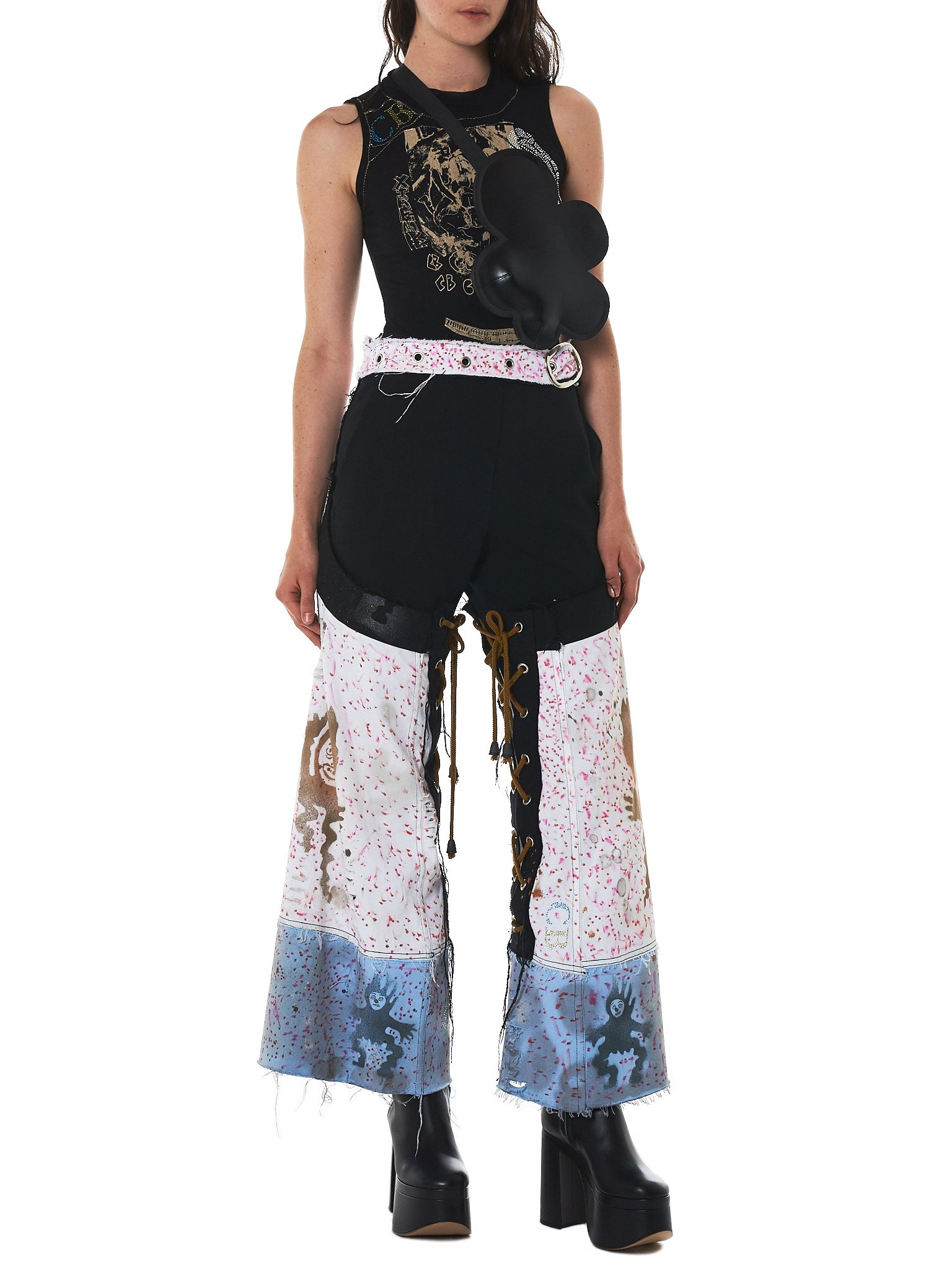 Claire Barrow Hand-Painted Denim - Hlorenzo Style