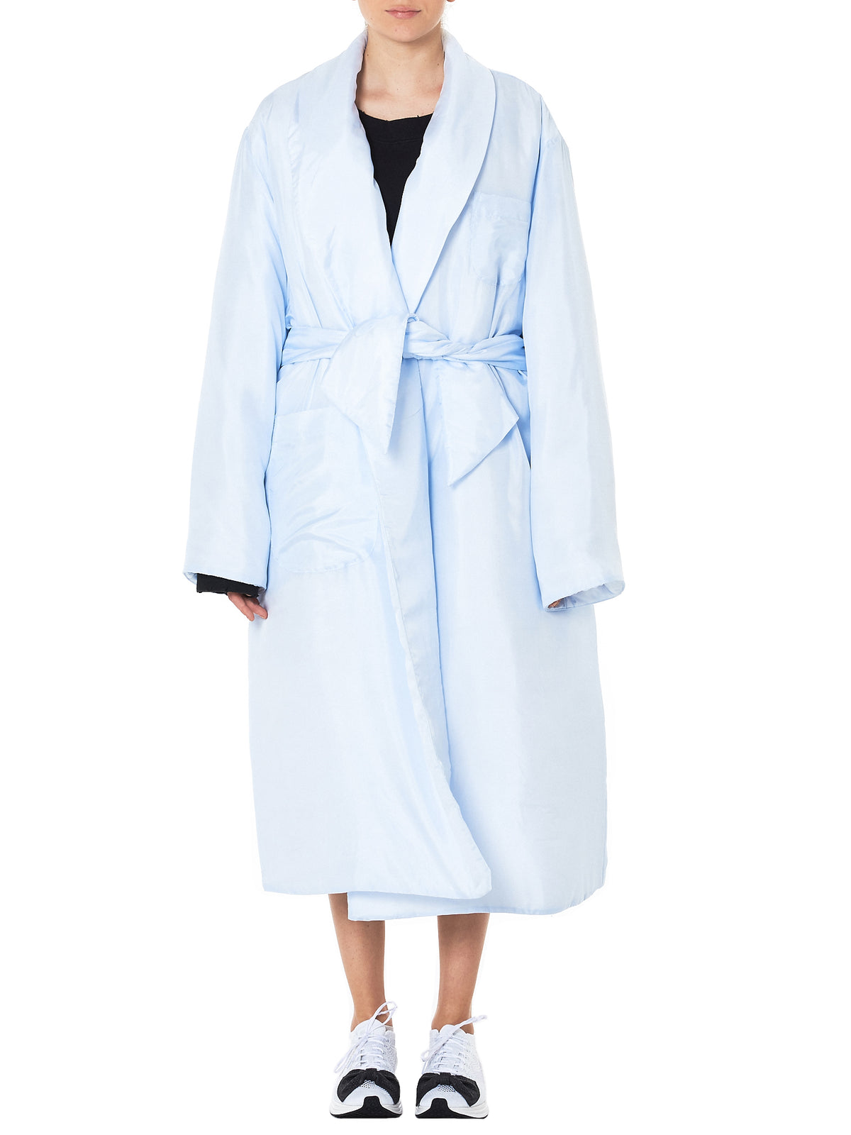 'CHARLIE' Silk Coat (CHARLIE-T101-BABY-BLUE)