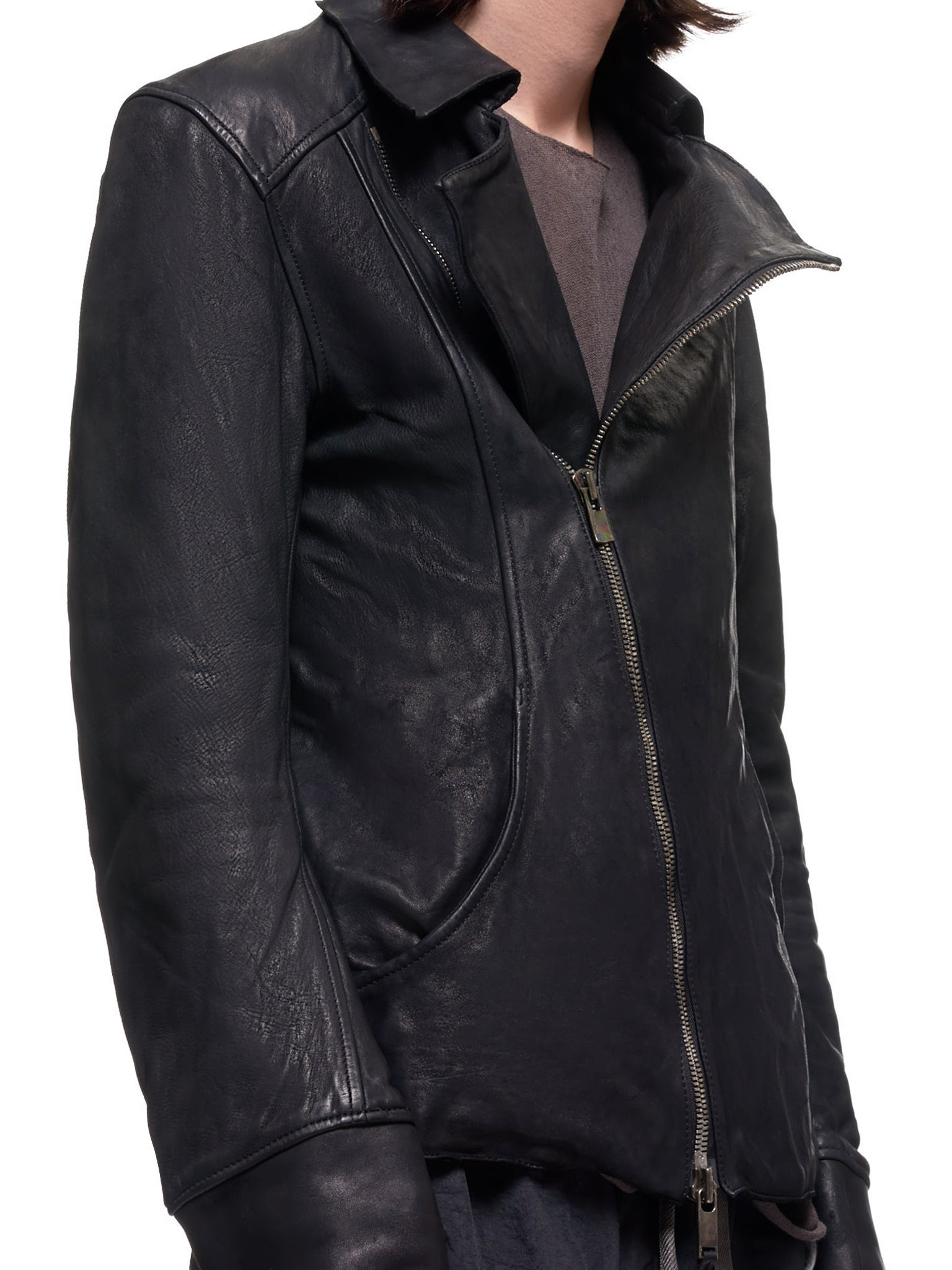 CHM Soft Horse Leather Jacket (CHM-SOFT-HORSE-FG-BLACK)