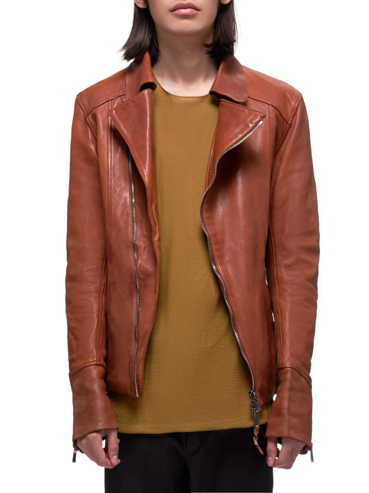 Guidi Leather Jacket | H.Lorenzo Front