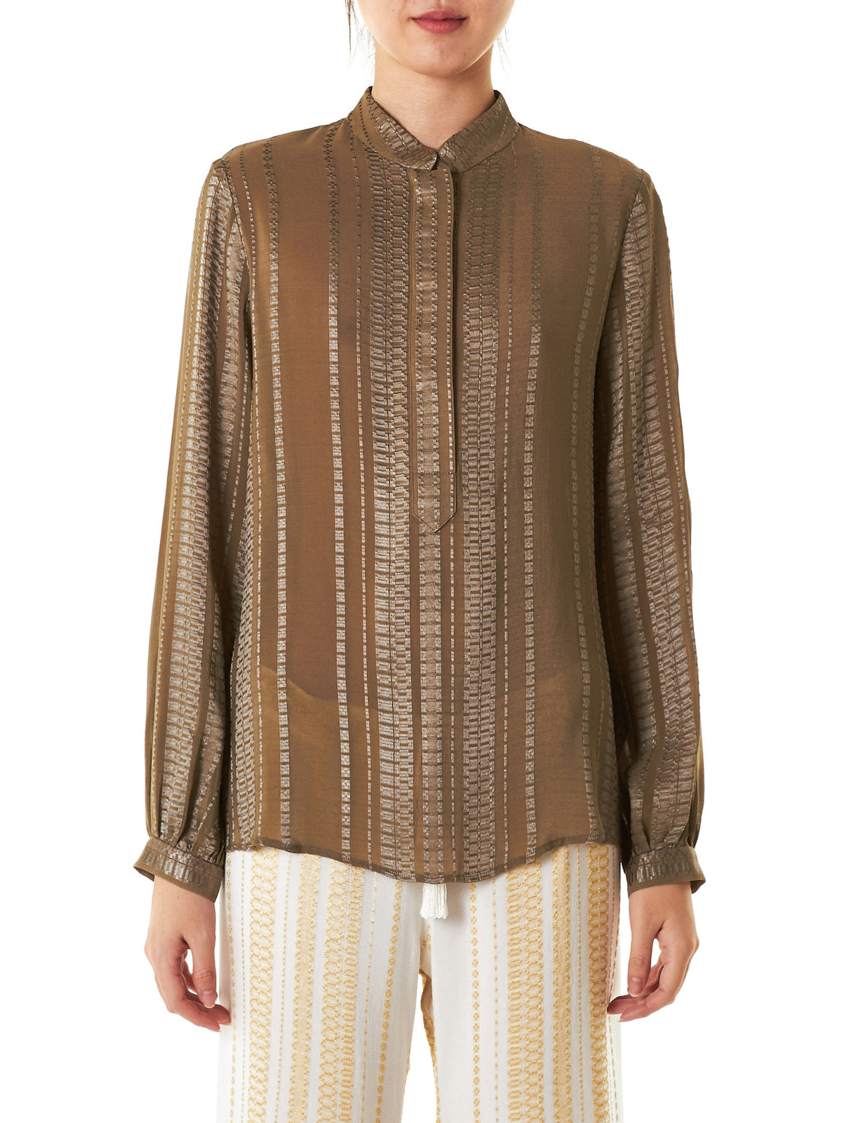 Embroidered Silk Blouse (CLBL096-HERA-011)