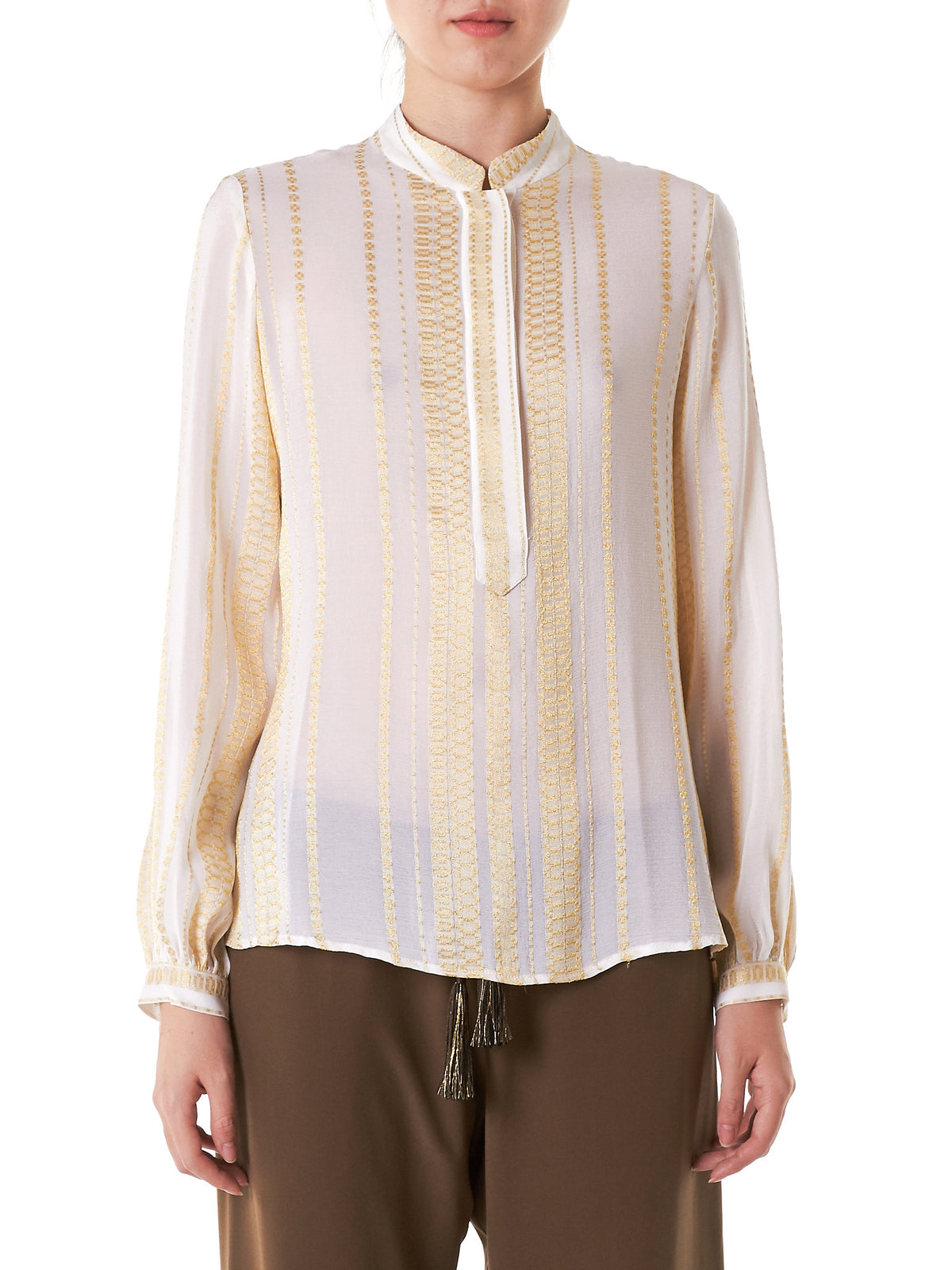 Embroidered Silk Blouse (CLBL101-HERA-089)