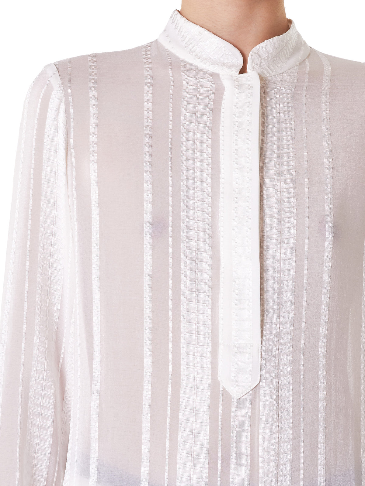 Embroidered Silk Blouse (CLBL111-HERA-IVORY)