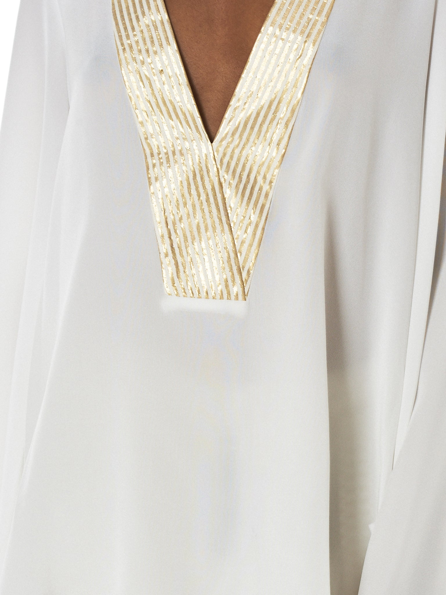 Zeus + Dione Gold Striped Blouse - Hlorenzo Detail 2