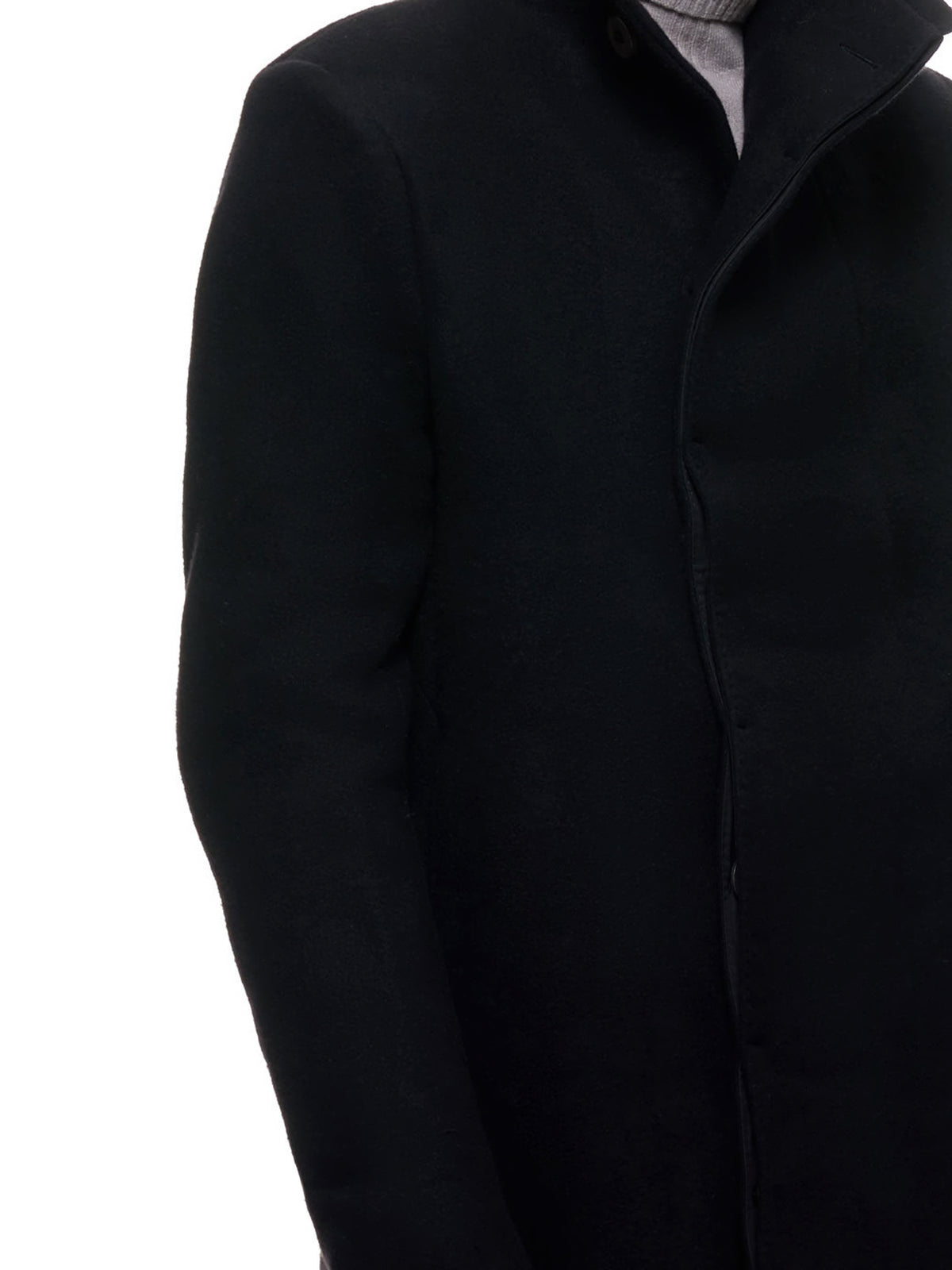 Mid Military Coat (COAT-MID-FFB10003-BLACK)