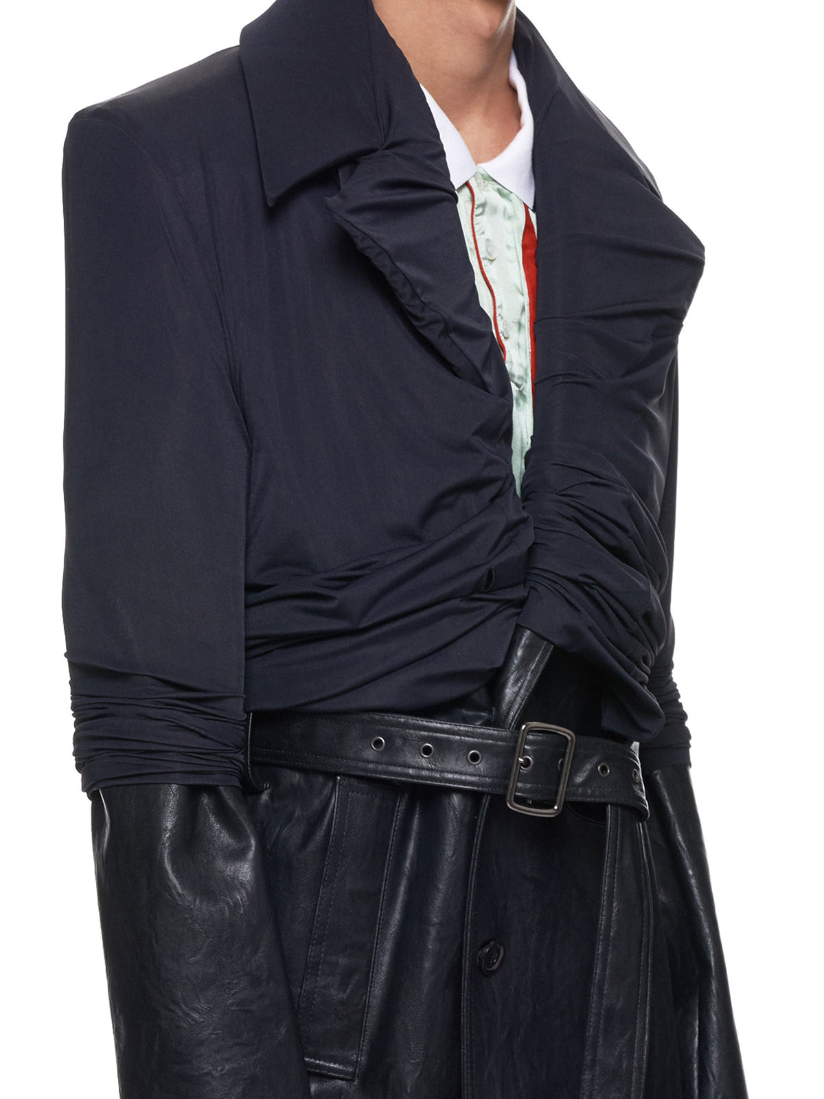 Condom Faux Leather Jacket (COAT18-S16-F134-BLACK)