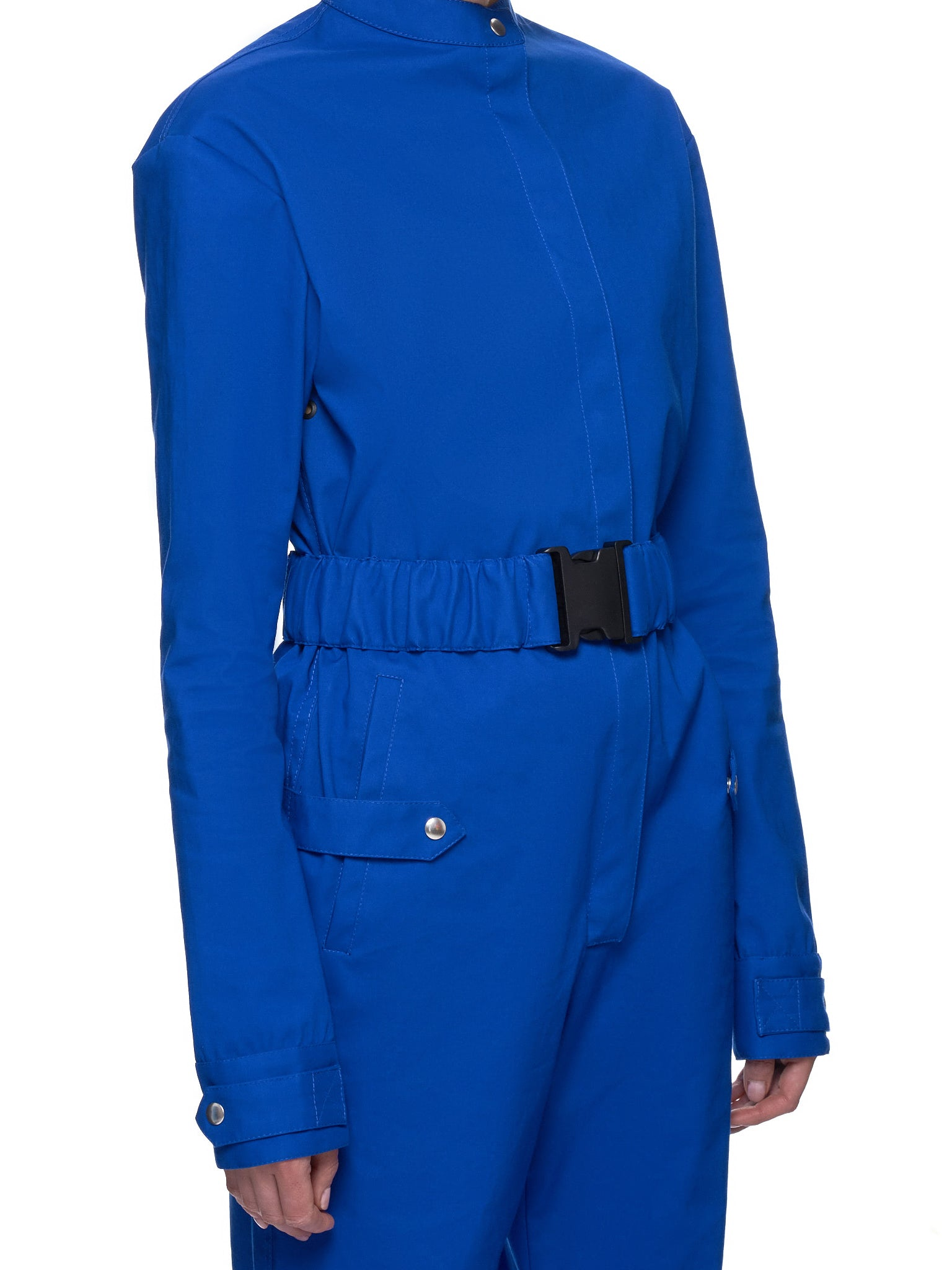 Bonded Cotton Belted Overall Jumpsuit (COMB1001-BC-ROYAL-BLUE)