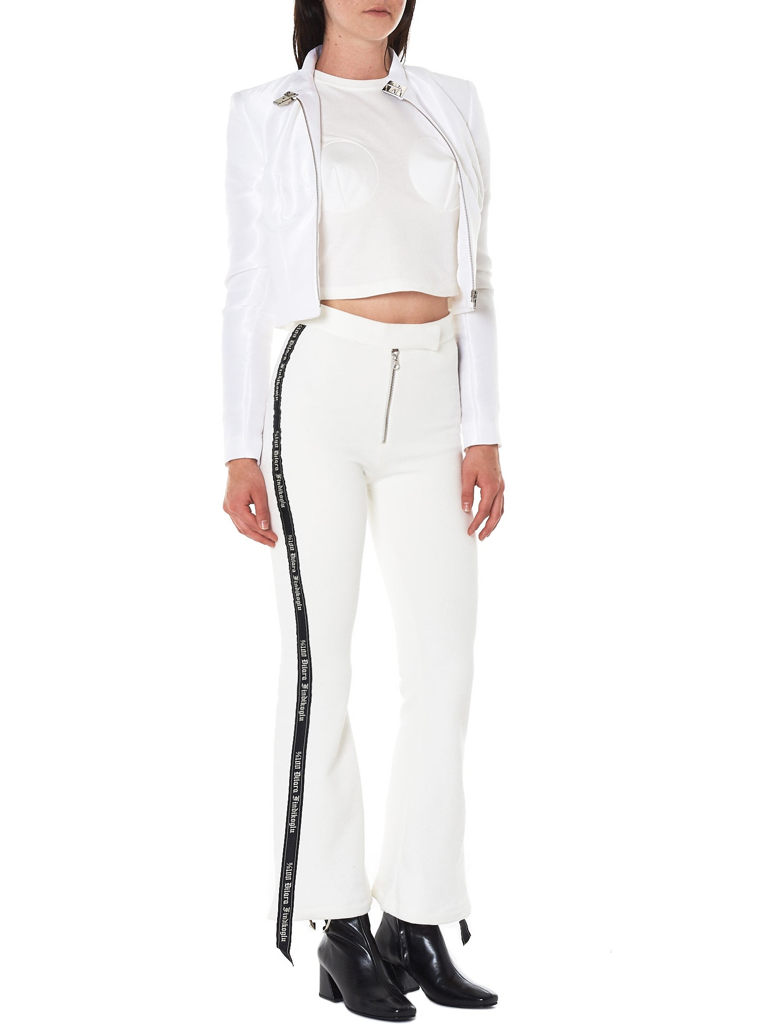 Dilara Findikoglu white flared trouser- Hlorenzo full view