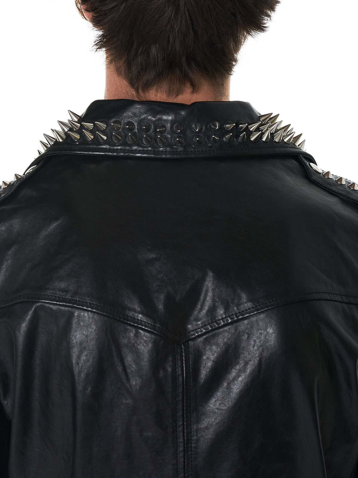 MJB (Marc Jacques Burton) Leather Jacket - Hlorenzo Detail 2