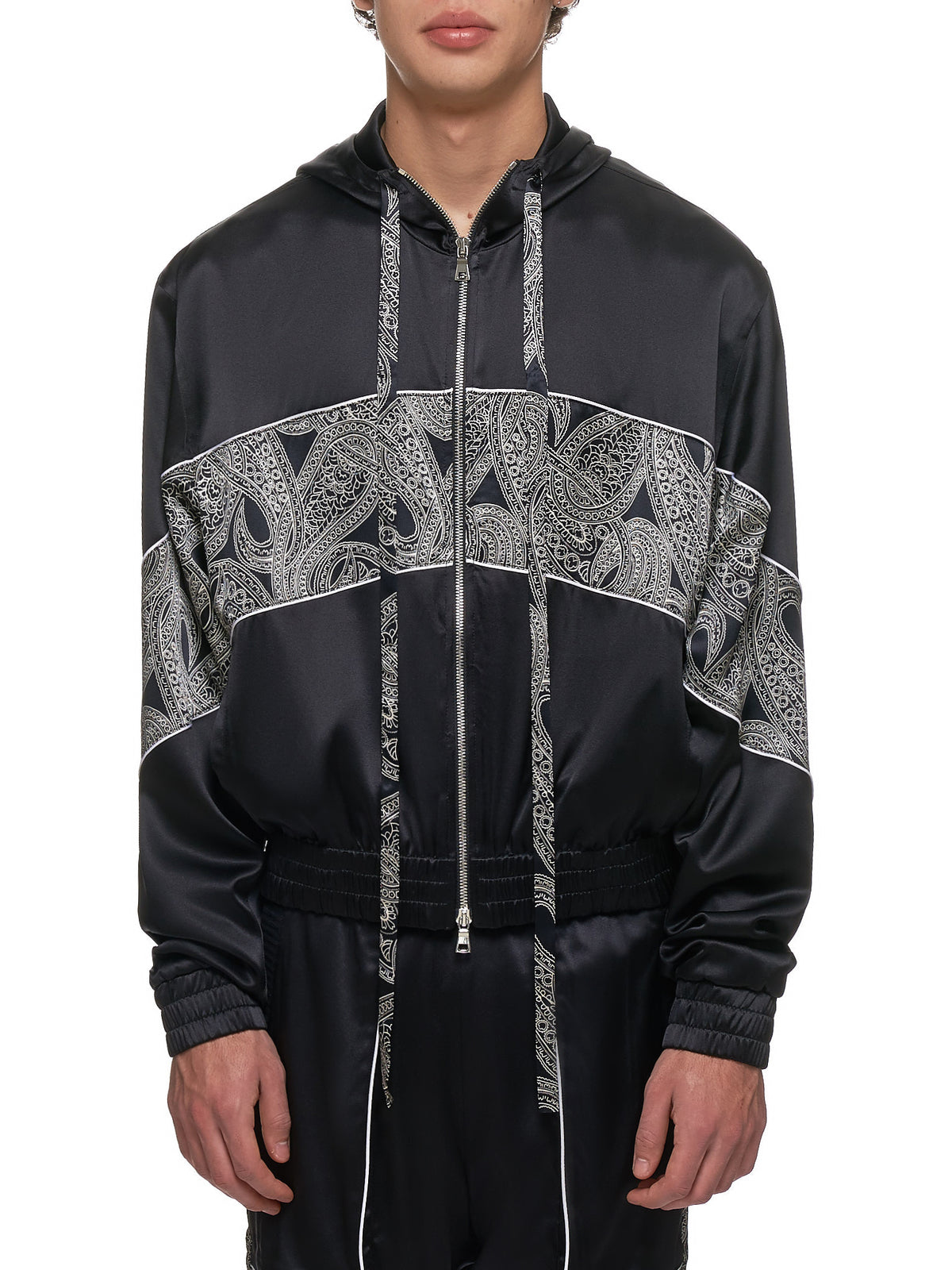 Courtside Jacket (COURTSIDE-JKT-BLK-PAISLY)