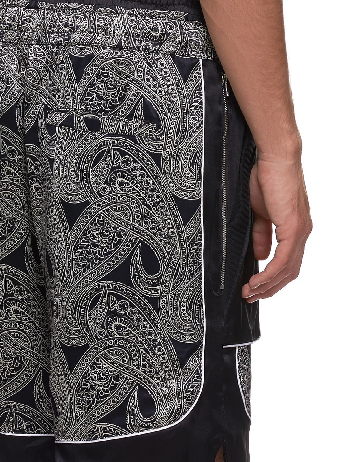 Courtside Shorts (COURTSIDE-SHORT-BLK-PAISLEY)