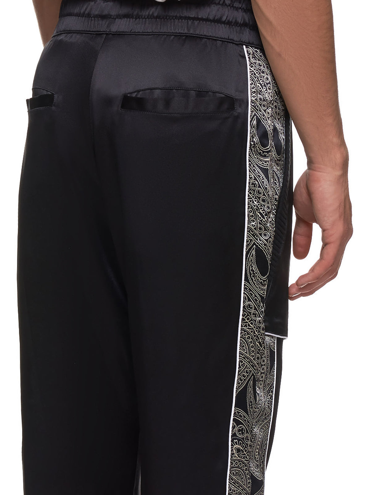 Courtside Trousers (COURTSIDE-TRS-BLK-PAISLEY)
