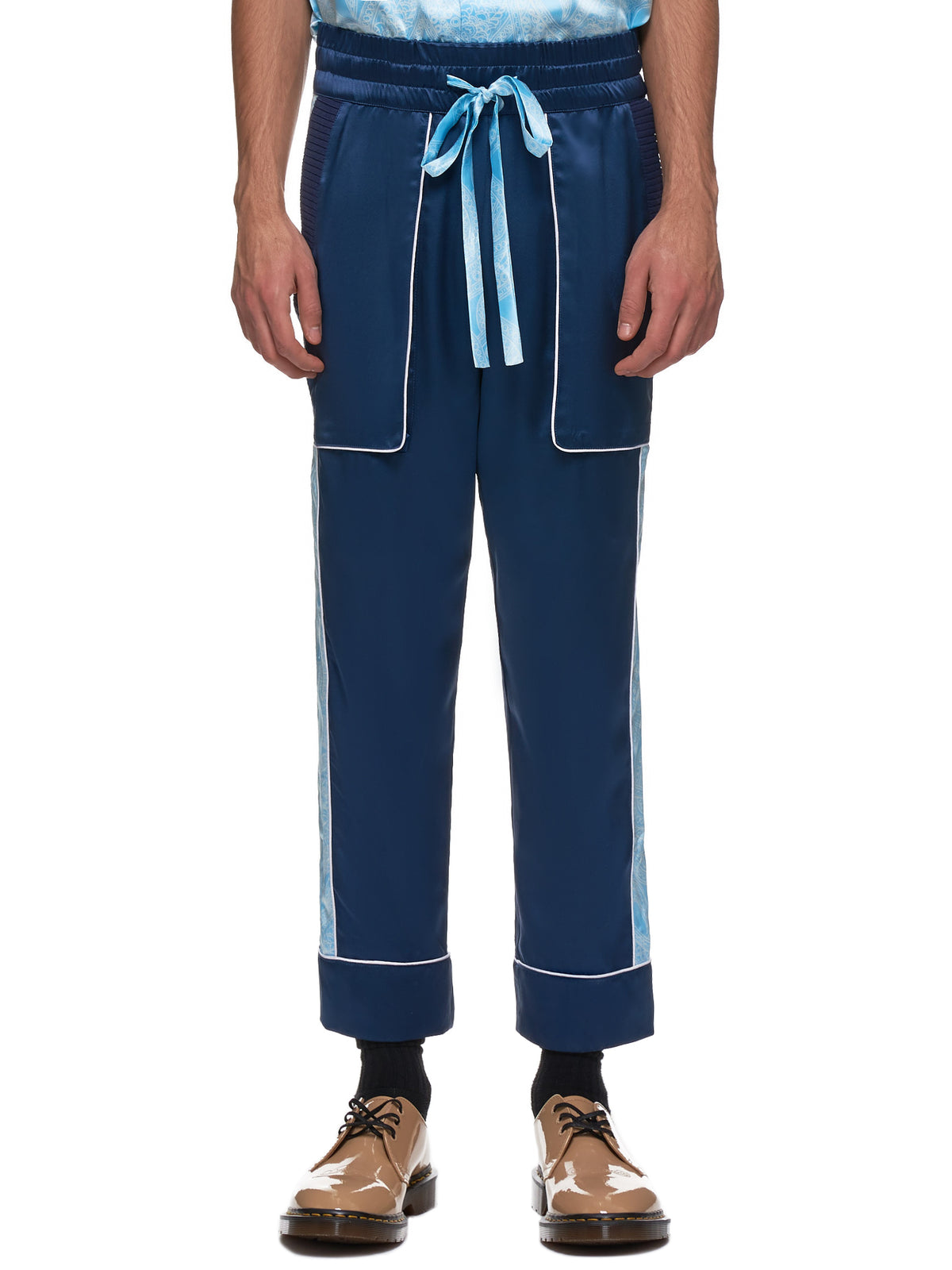 Courtside Trousers (COURTSIDE-TRS-BLUE-PAISLEY)