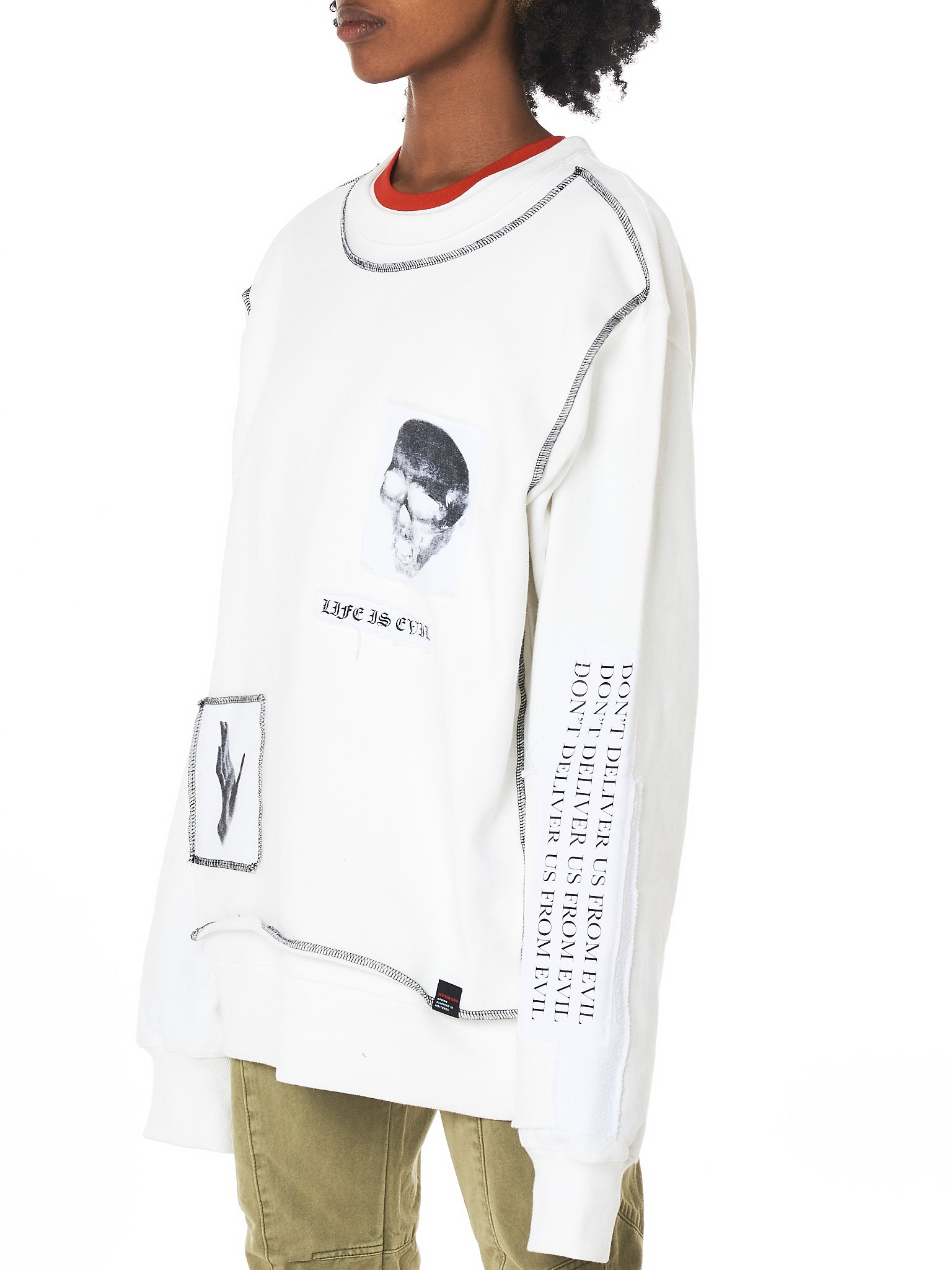 Hyein Seo Graphic Pullover - Hlorenzo Side