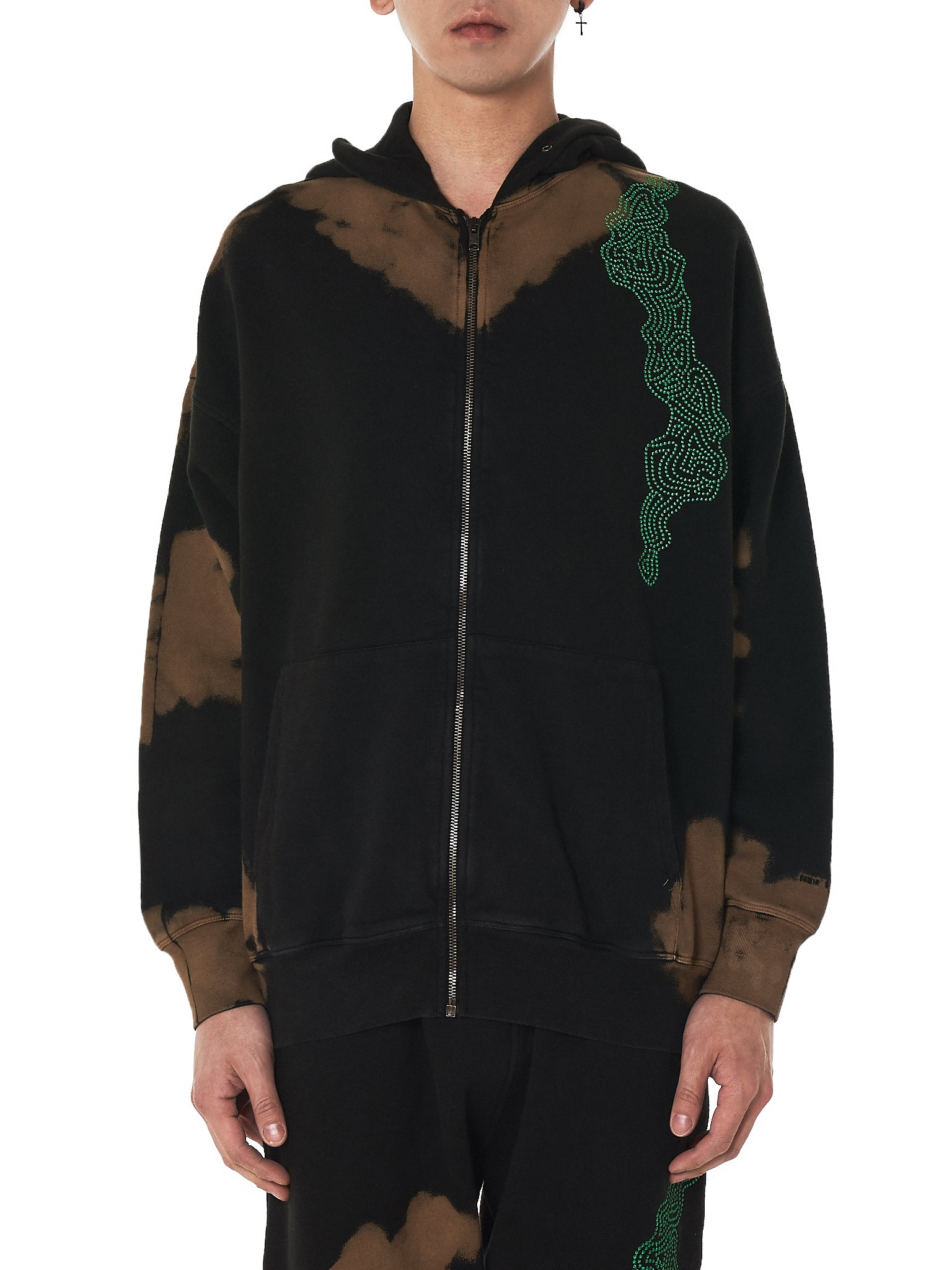 Damir doma zipup bleached hoodie - H.Lorenzo front