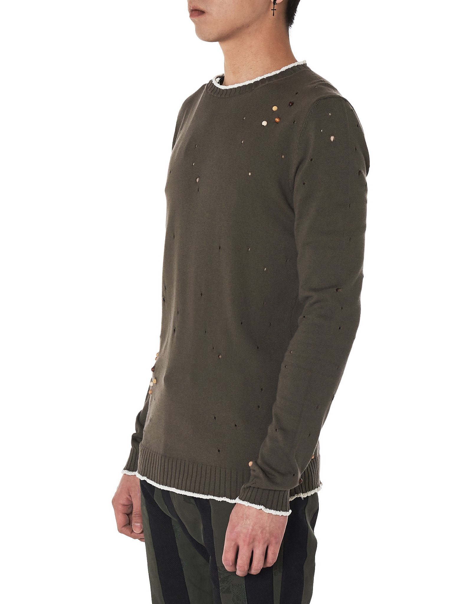damir doma bead crewneck sweater - H.Lorenzo side