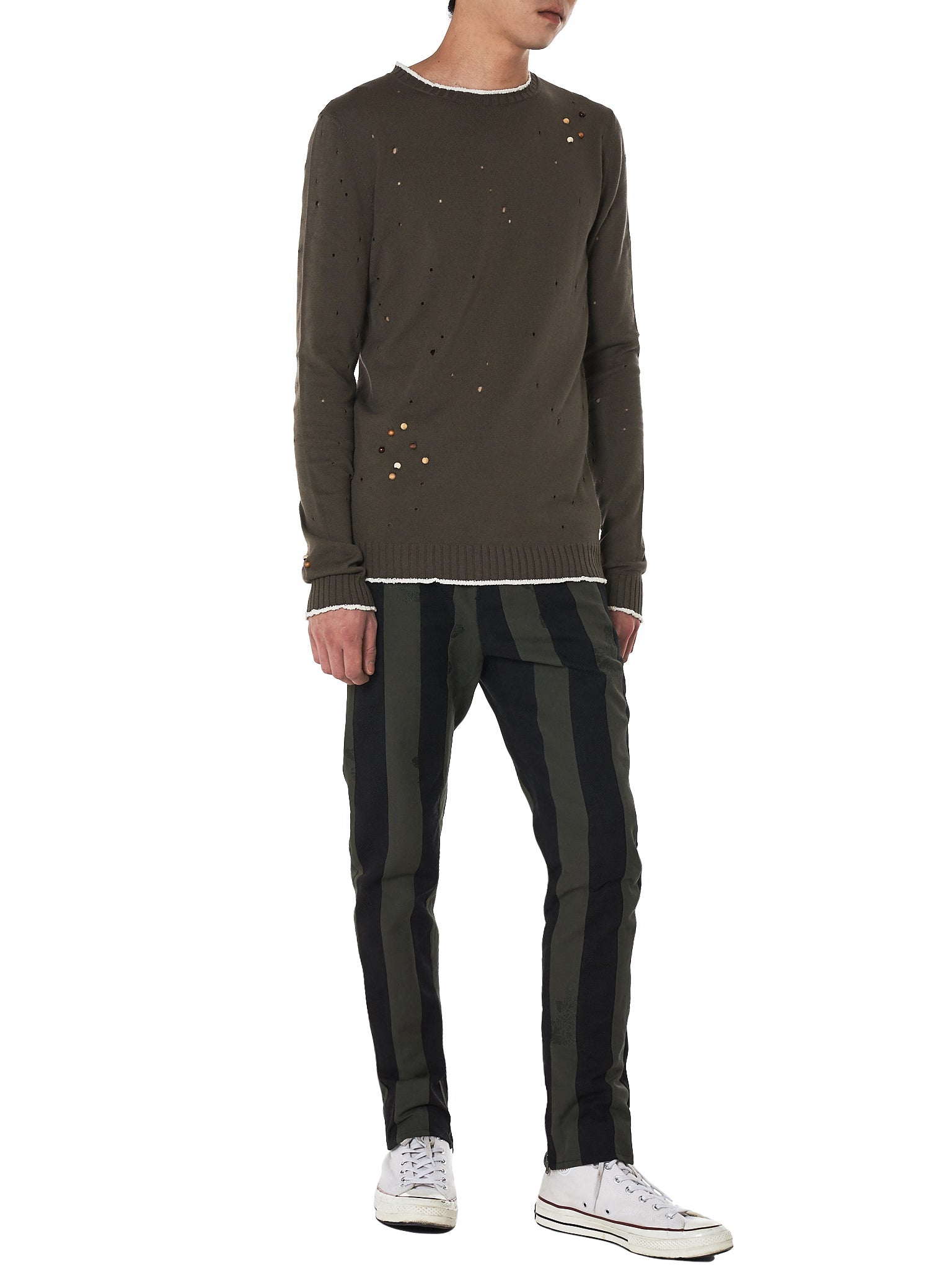 damir doma striped trouser - H.Lorenzo styled