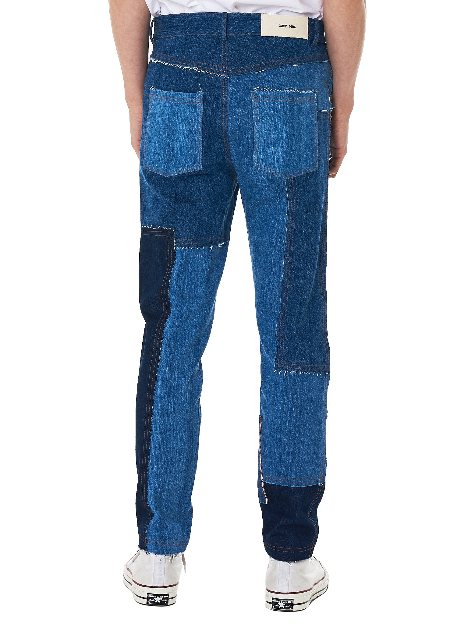 Damir doma patchwork denim - H.Lorenzo back