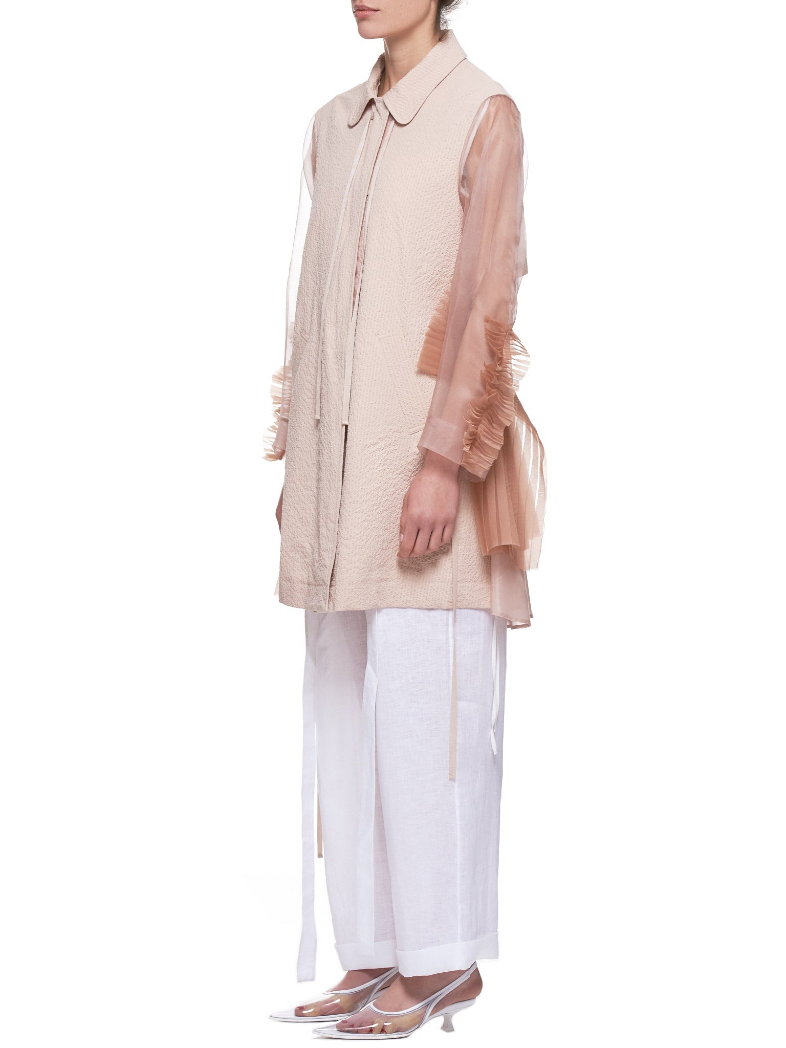 Shanshan Ruan Trench Coat - Hlorenzo Side