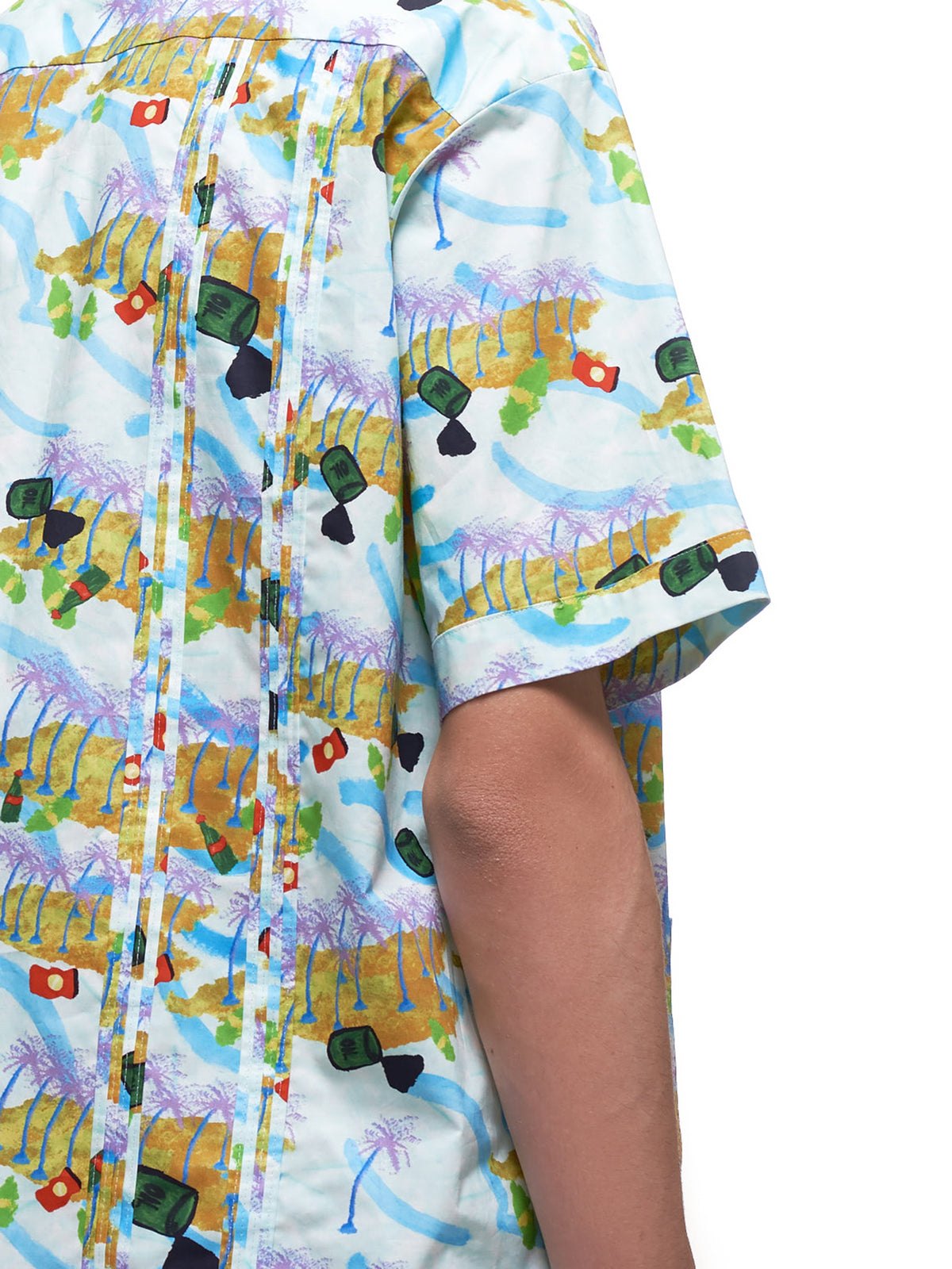 Printed Bowling Shirt (CUMU0148A0-S52768-LIGHT-BLUE-M)