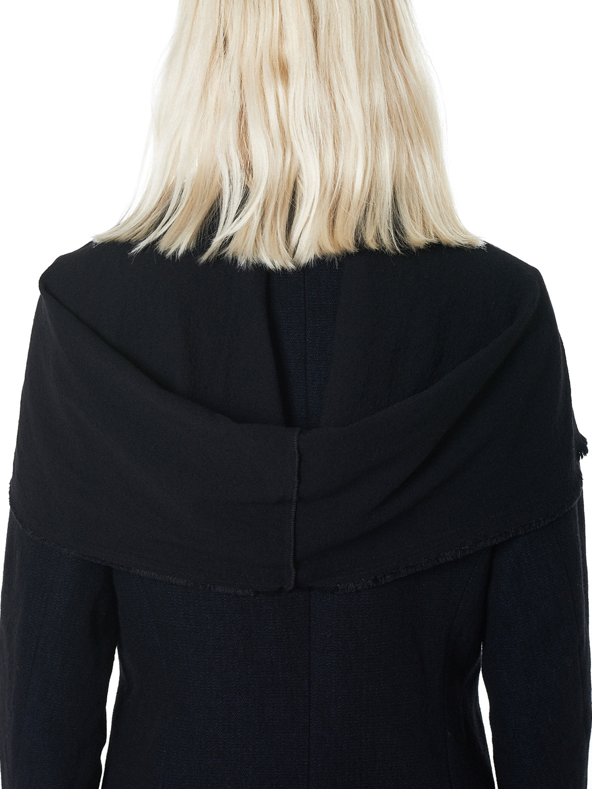 Hooded Long Coat (CW121-WLP3-BLACK)