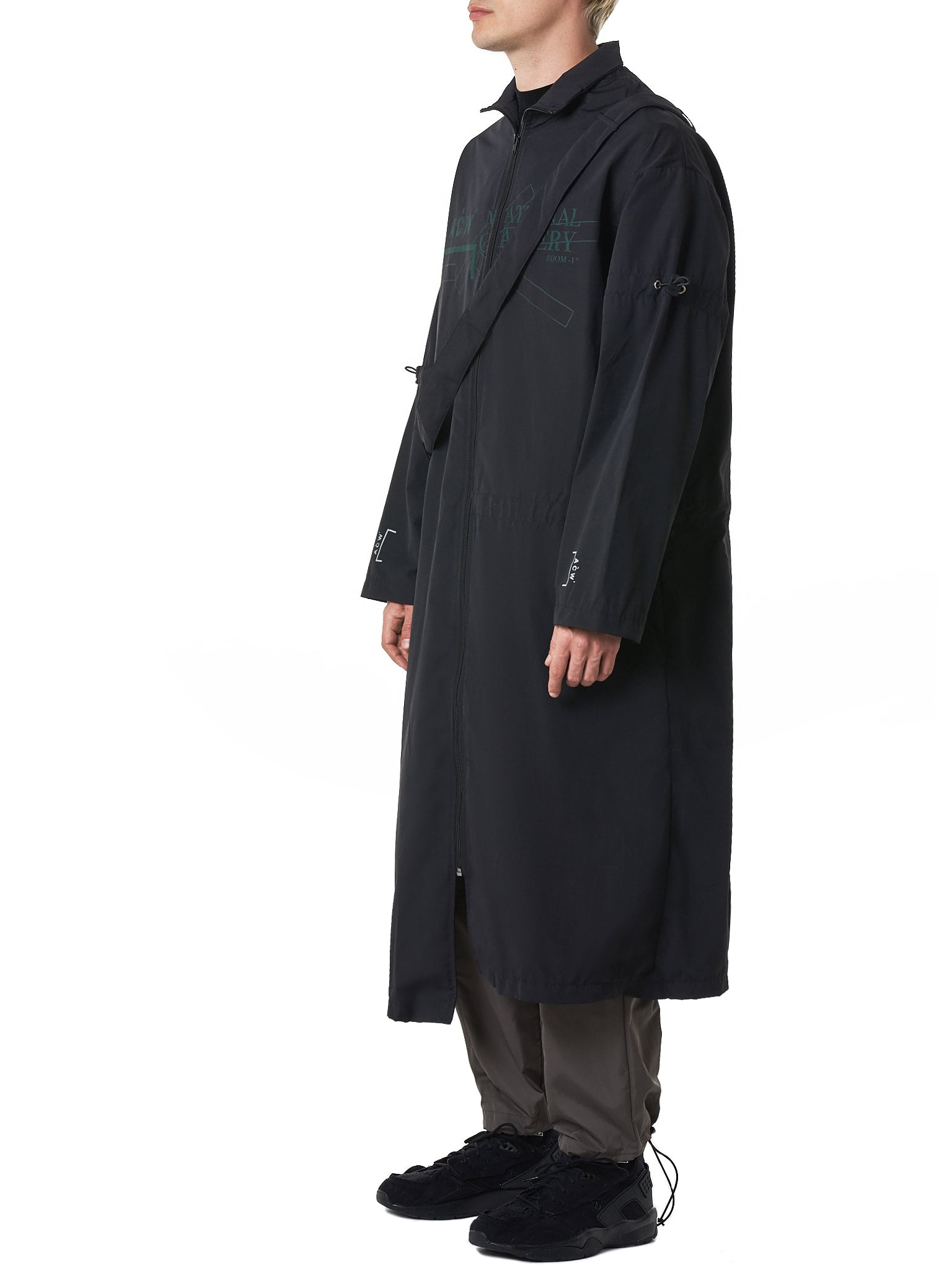 A Cold Wall Black Coat - Hlorenzo Side