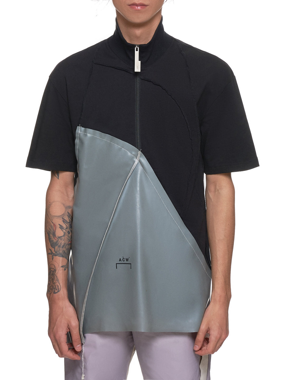 Zippered Top (CW9SMH06AC-BLACK-GREY)