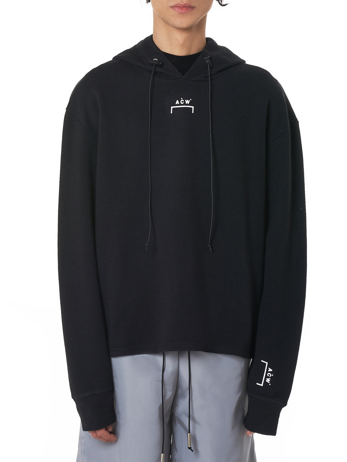A Cold Wall Black Logo Hoodie - Hlorenzo Front