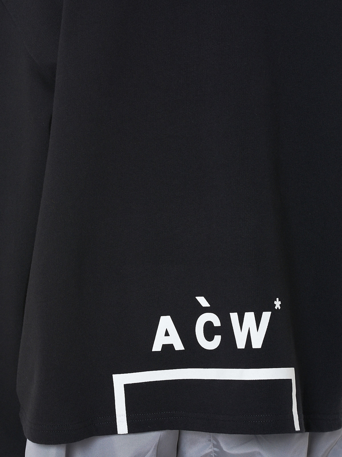 A Cold Wall Black Logo Hoodie - Hlorenzo Detail 2