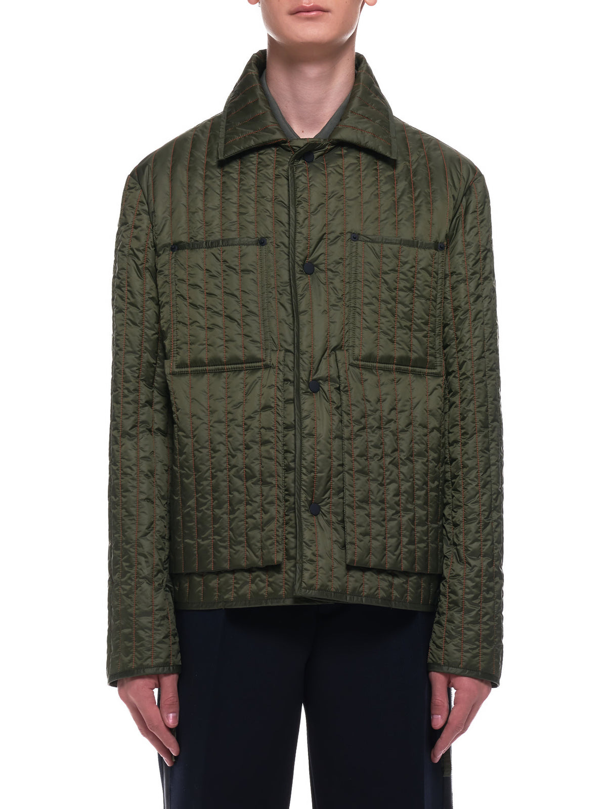 Quilted Worker Jacket (CWOJKT08-OLIVE)