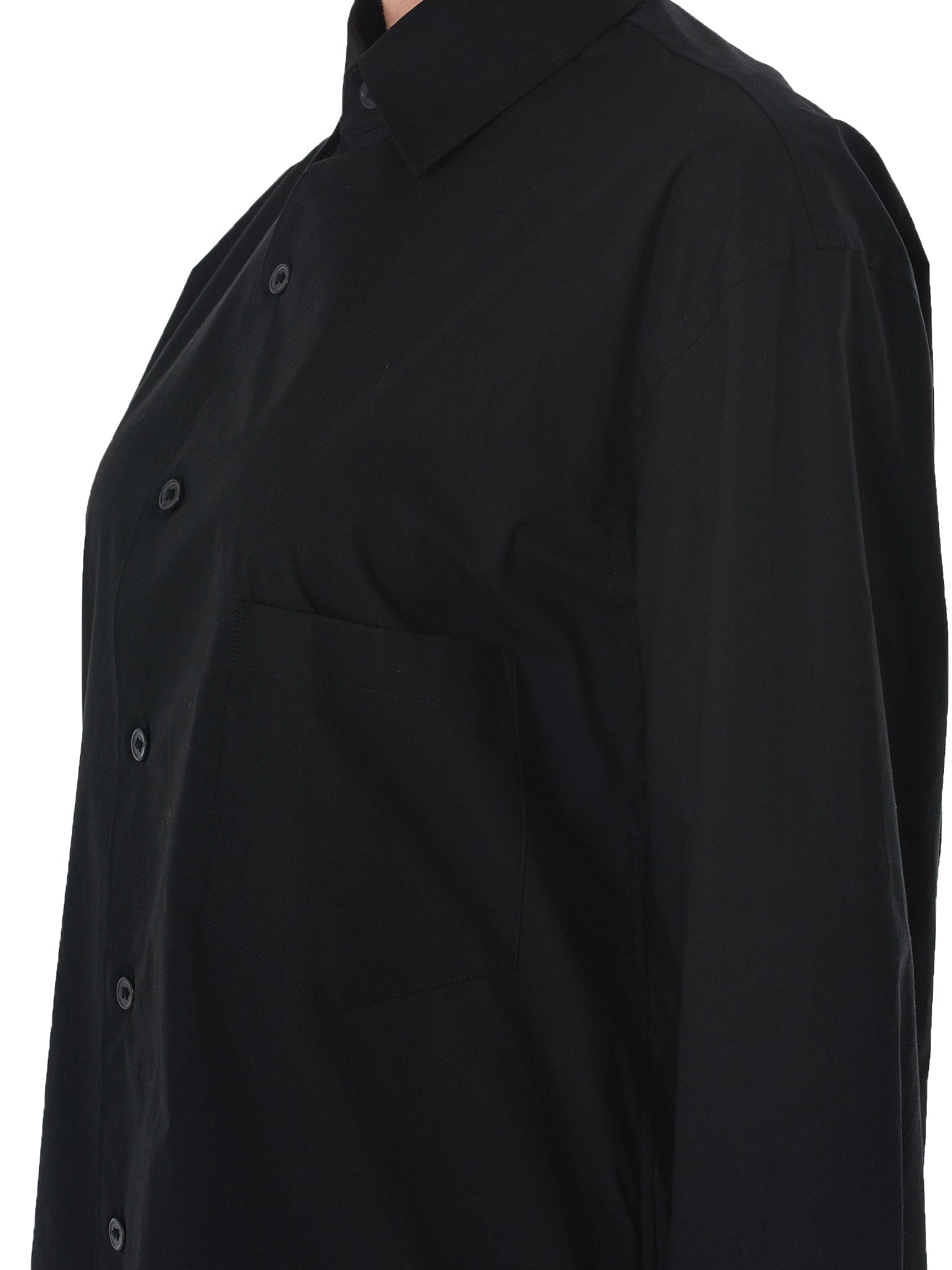 'La Marque' Long Shirt (CY6859-BLACK-WHITE)