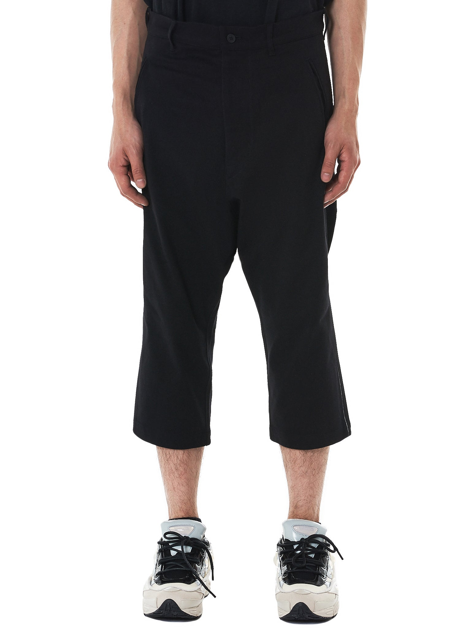 Y-3 Cropped Pants - Hlorenzo Front