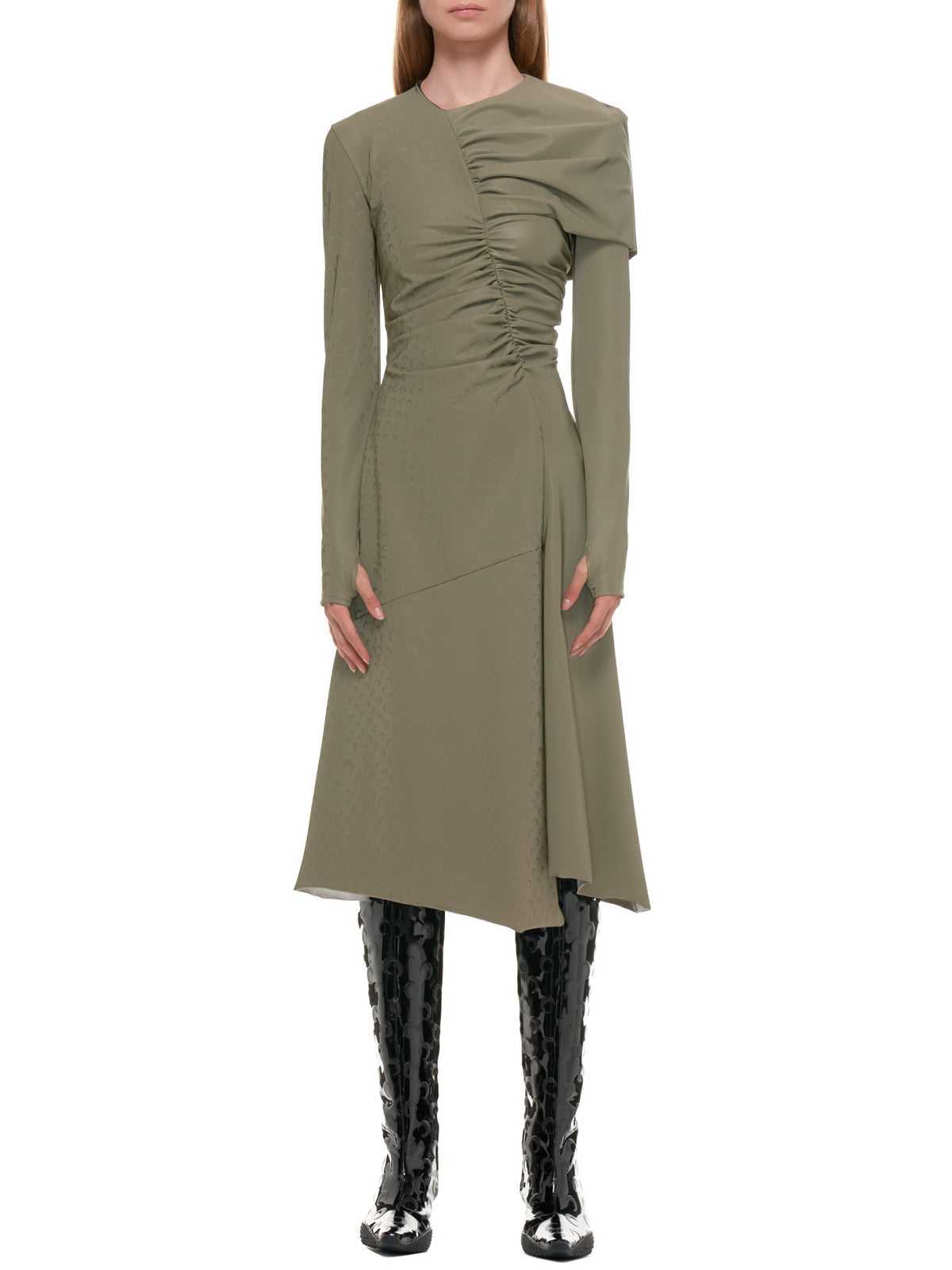 Draped Dress (D051W-BRONZE)