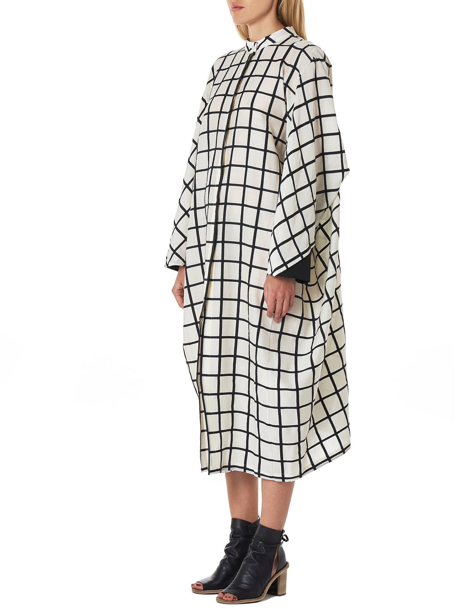 'Mondrian' Wide Dress (D09F19-MONDRIAN-WHITE-BLACK)