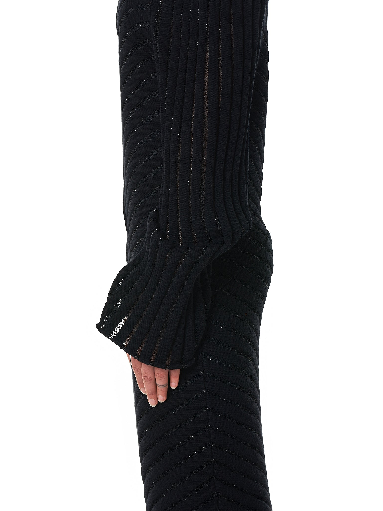 Knit Turtleneck Dress (D10-BLACK)