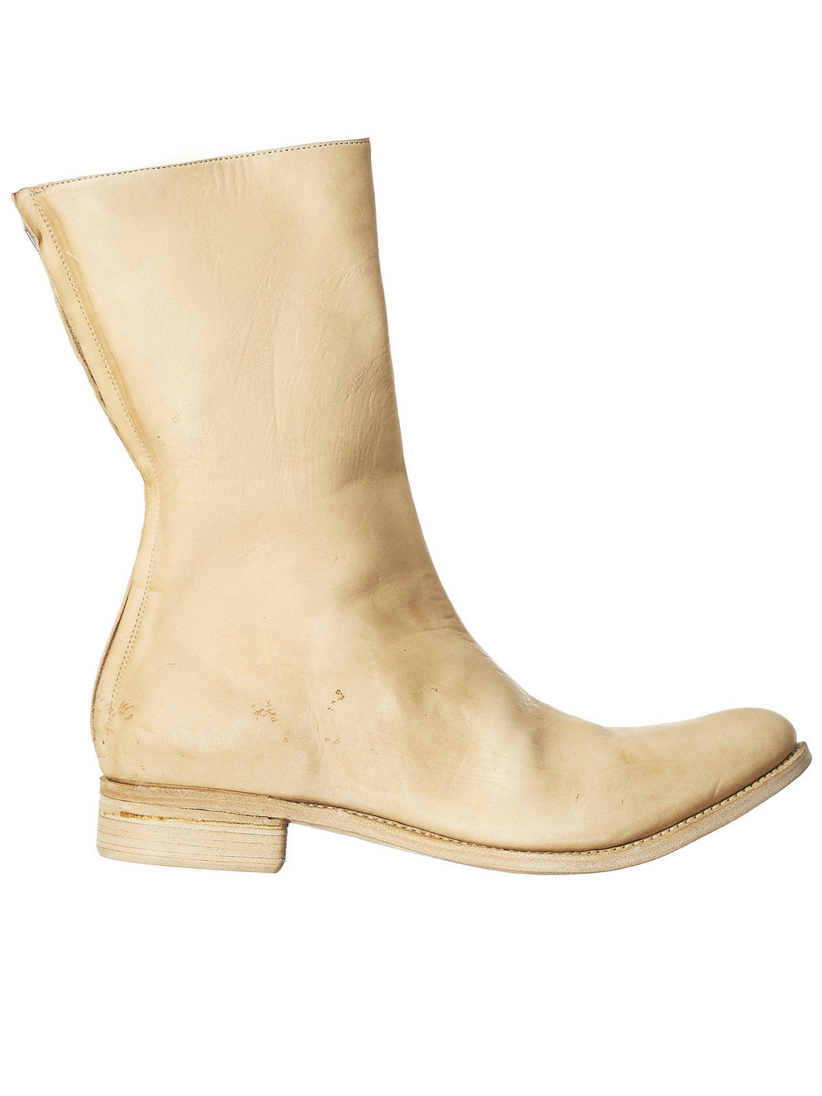 Heel Zip Boot (D14-HORSE-LIGHT-BEIGE)