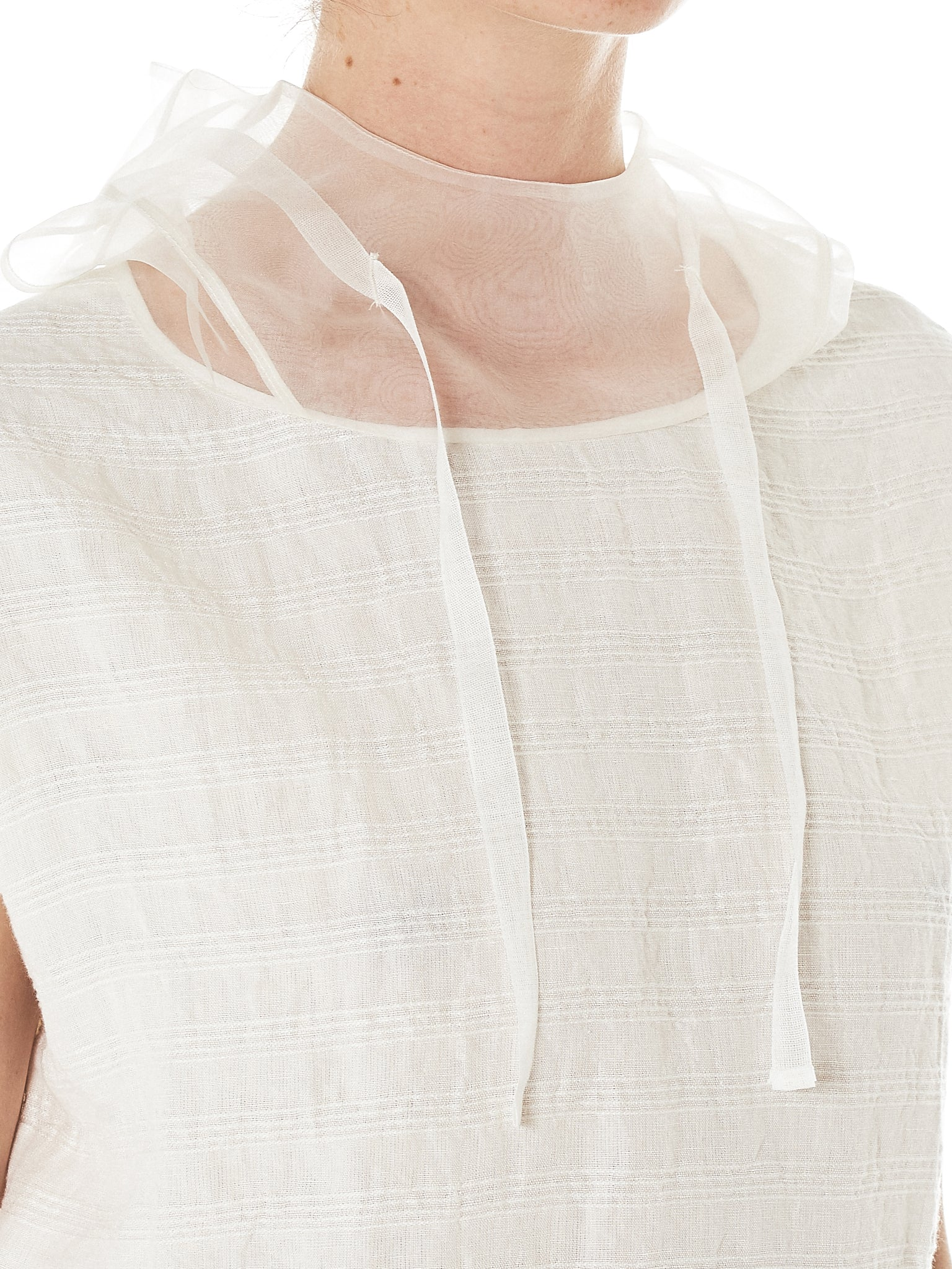 Shanshan Ruan Pleated Sweatshirt - Hlorenzo Detail 1