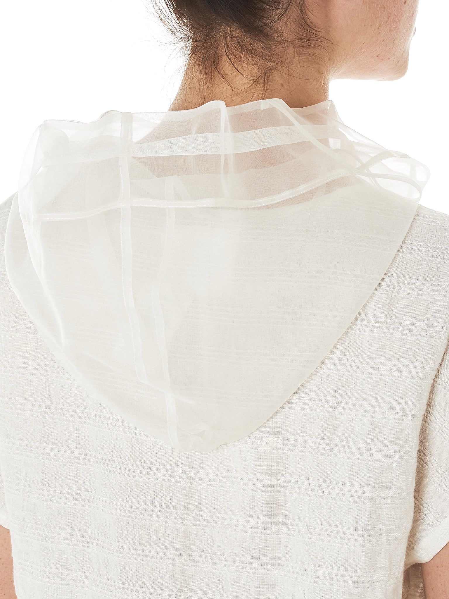Shanshan Ruan Pleated Sweatshirt - Hlorenzo Detail 3